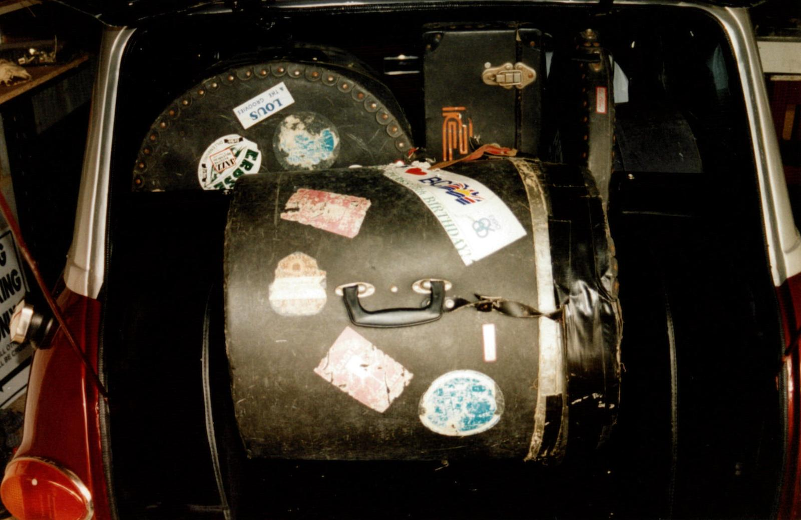 Ringo Starr's 1966 Austin Mini Cooper S fits a drum kit in the trunk
