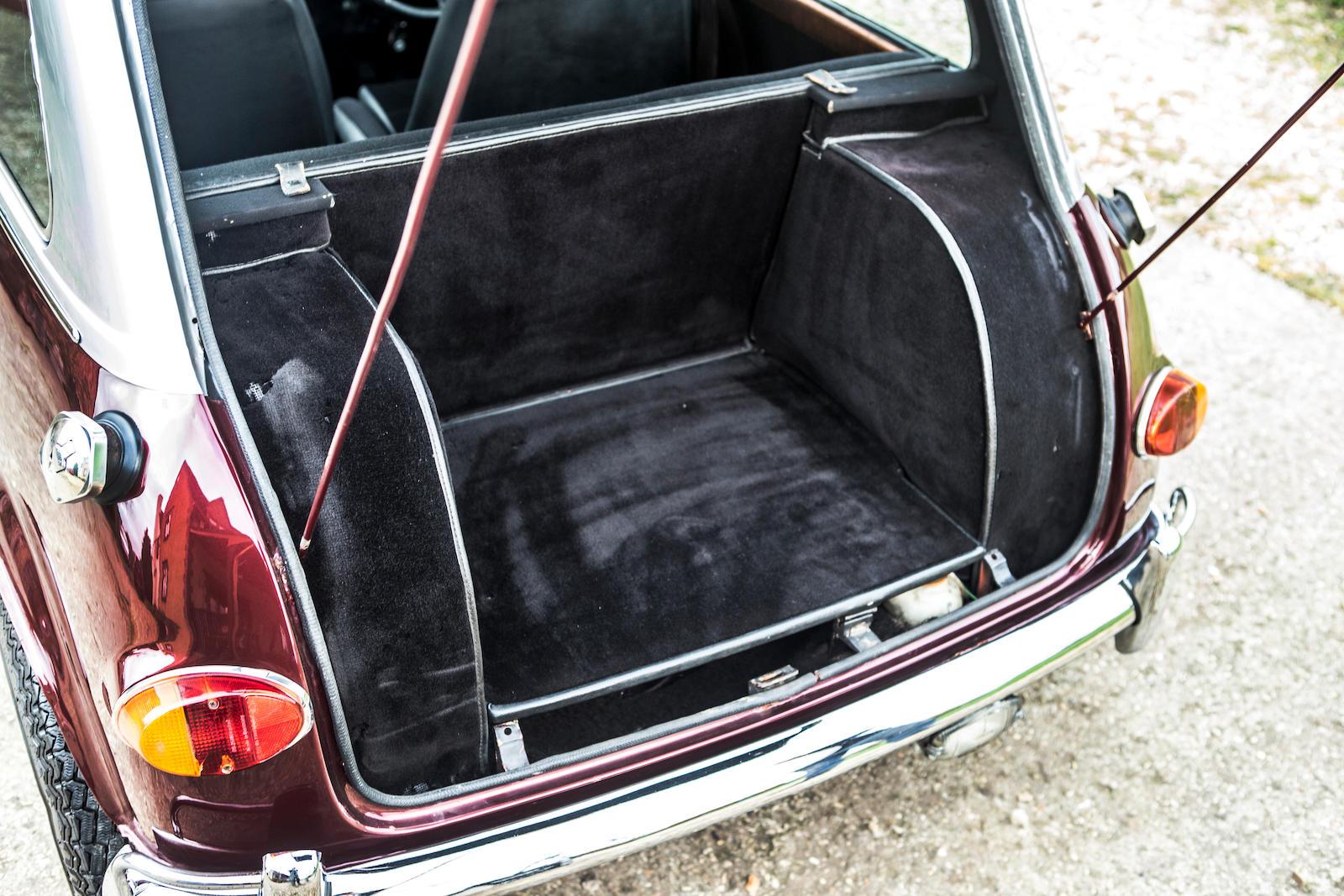 Ringo Starr's 1966 Austin Mini Cooper S custom trunk