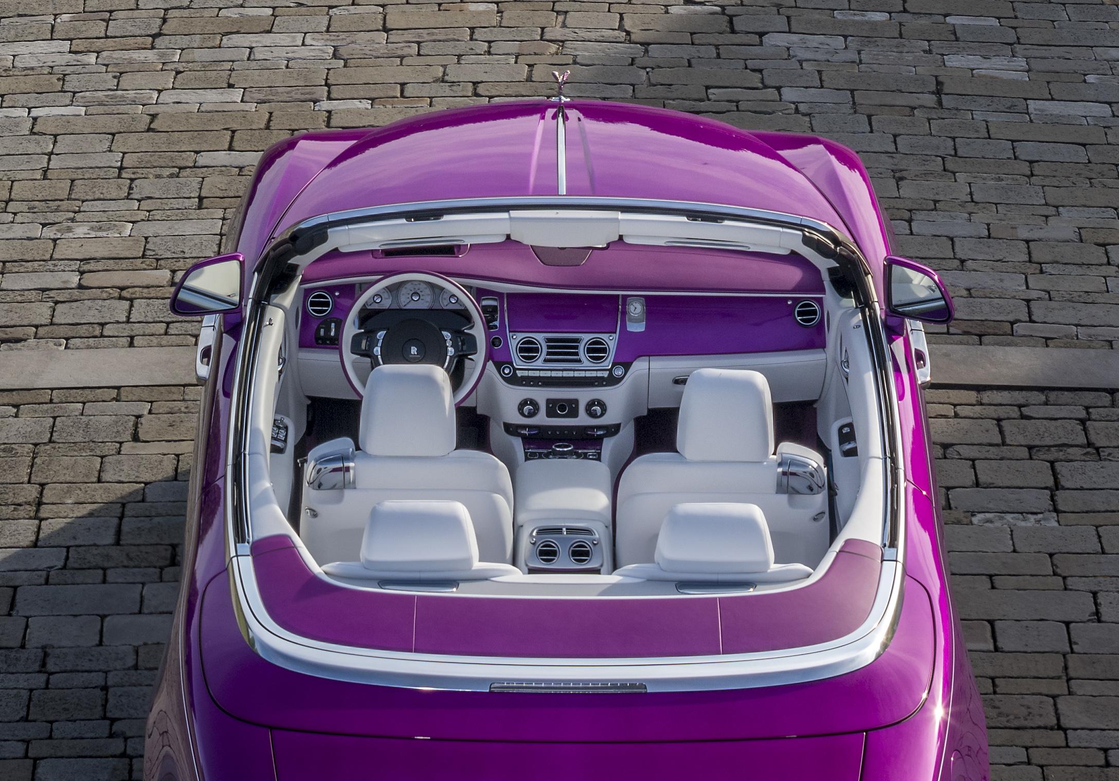 Michael Fux's Rolls-Royce Dawn convertible overhead