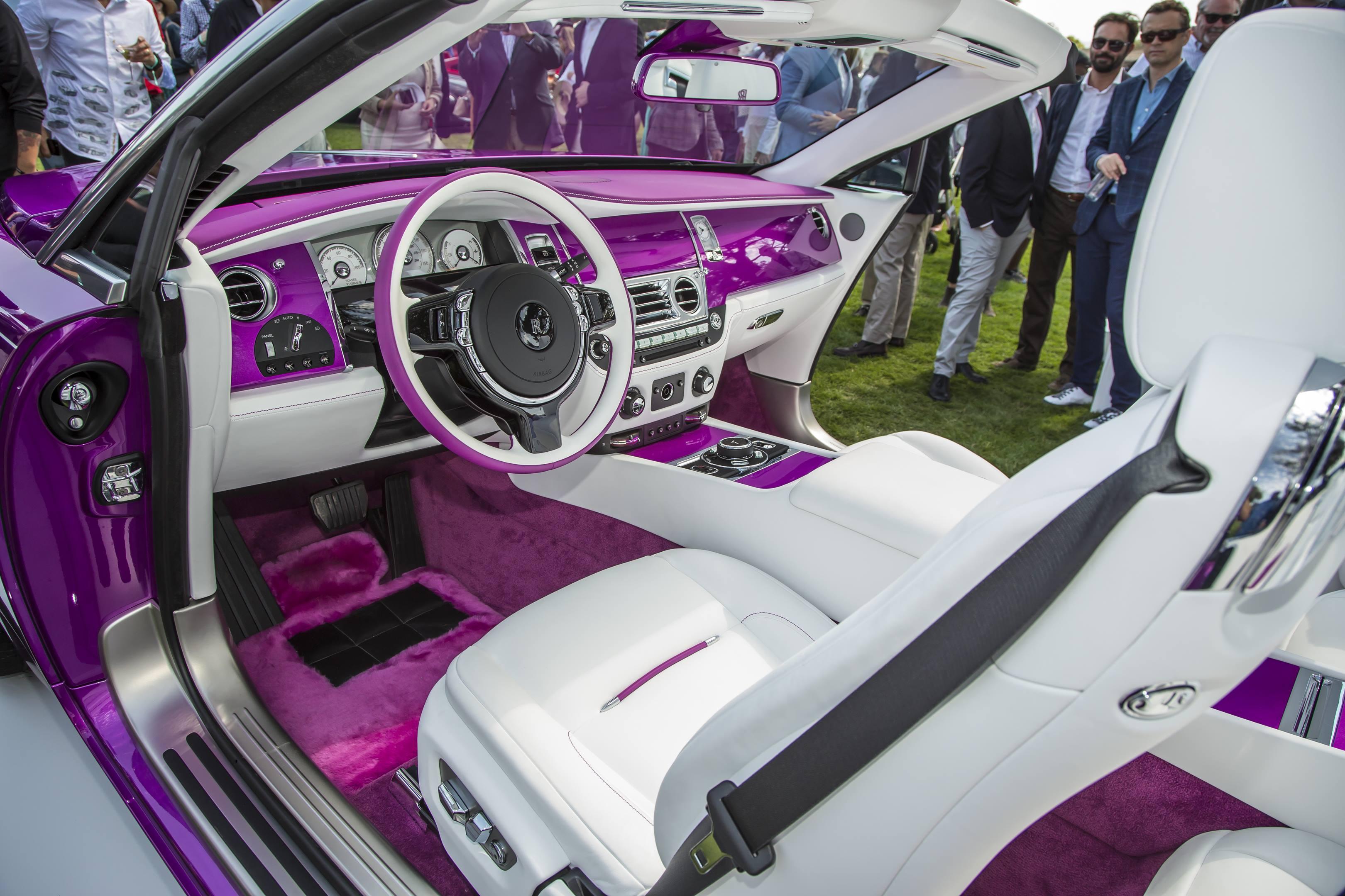Michael Fux's Rolls-Royce Dawn convertible interior