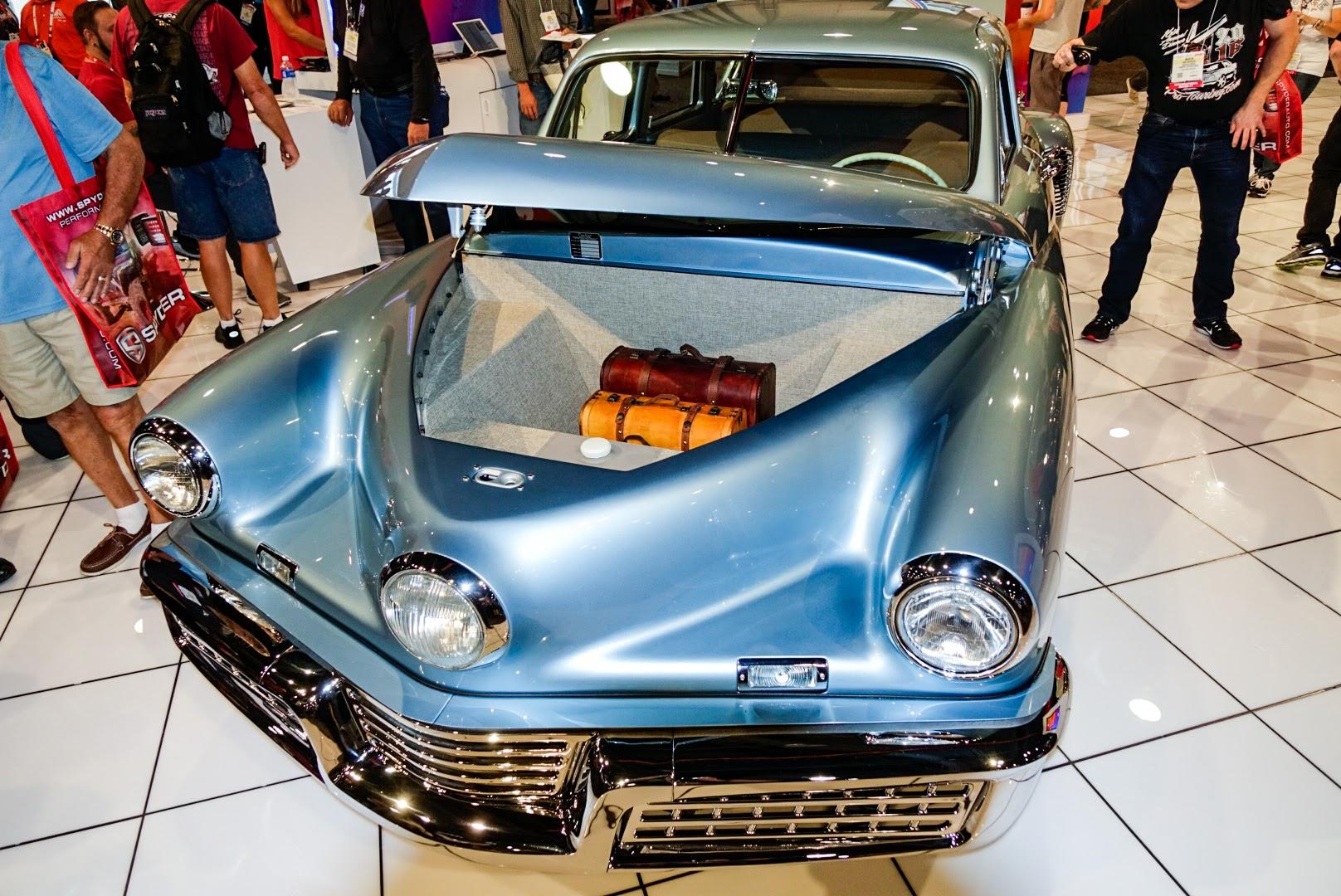 Rob Ida Tucker Replica SEMA trunk detail