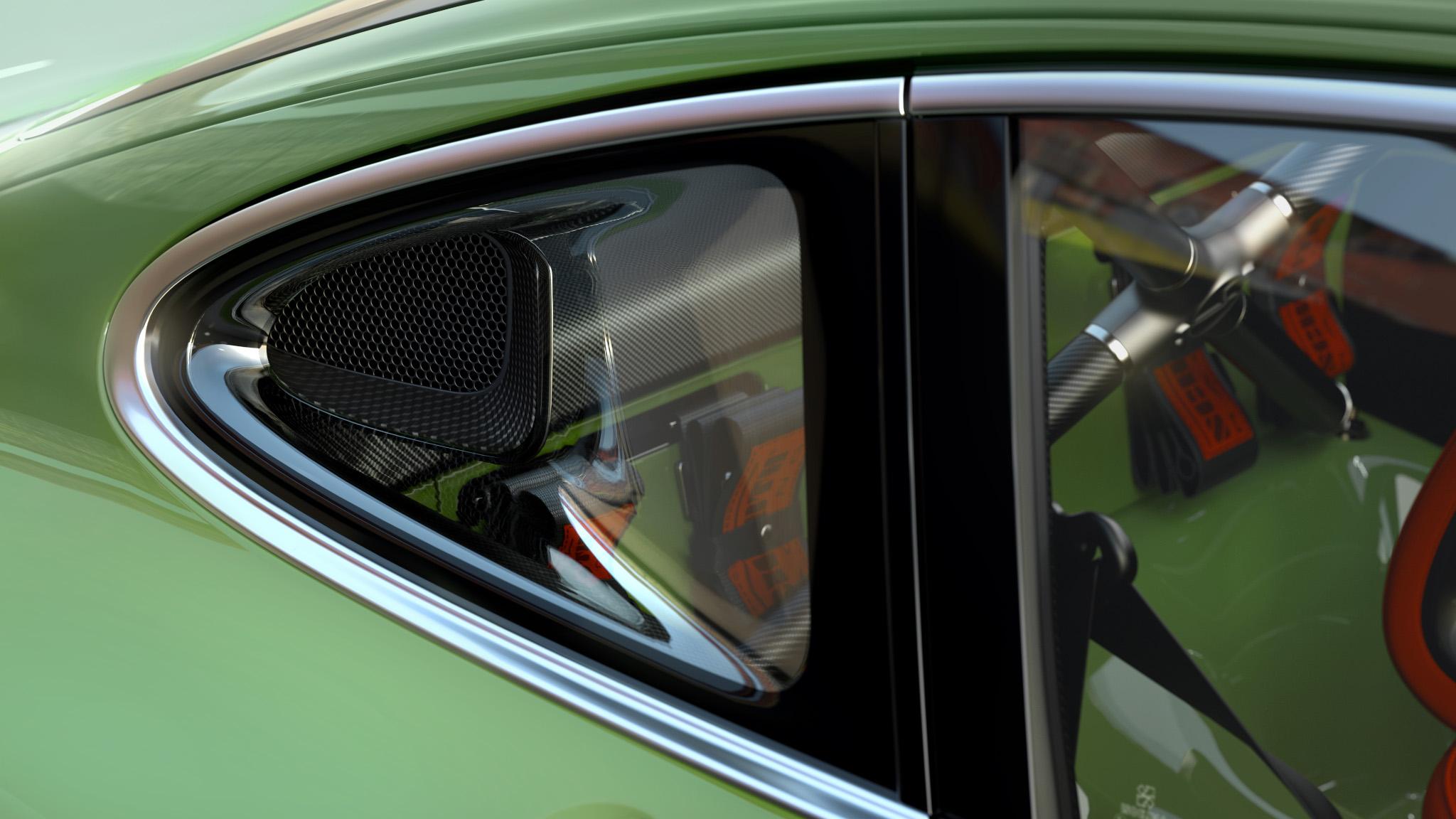 1990 Porsche 911 ram air detail