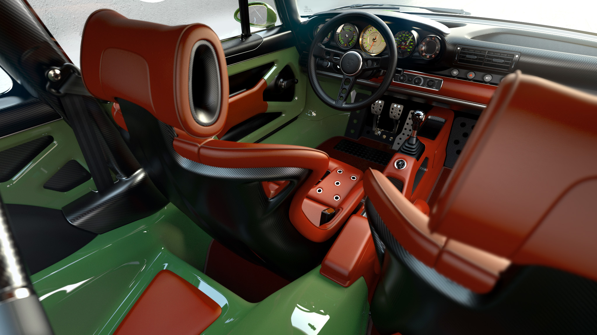 1990 Porsche 911 interior looking forwards