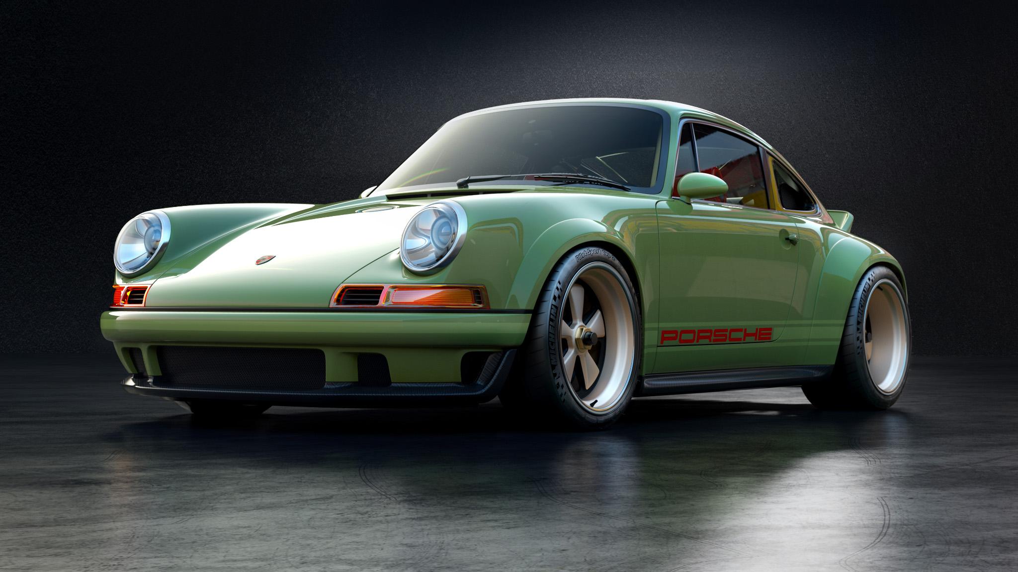 1990 Porsche  911 front left 3/4 shot