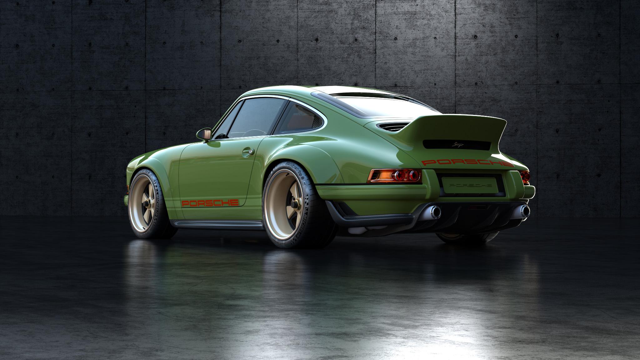 1990 Porsche 911 rear left 3/4 shot