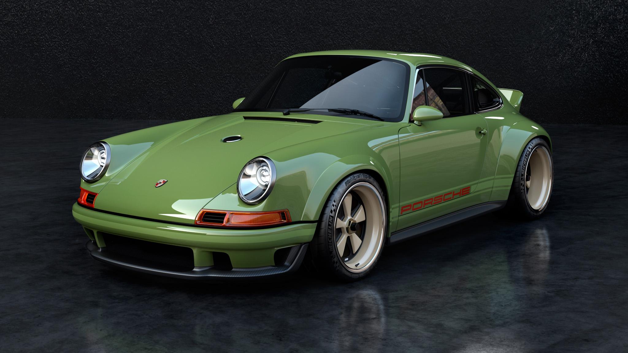 1990 Porsche 911 front left 3/4 high