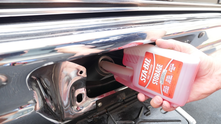 Many people add fuel stabilizer before putting their classic to bed for the winter.