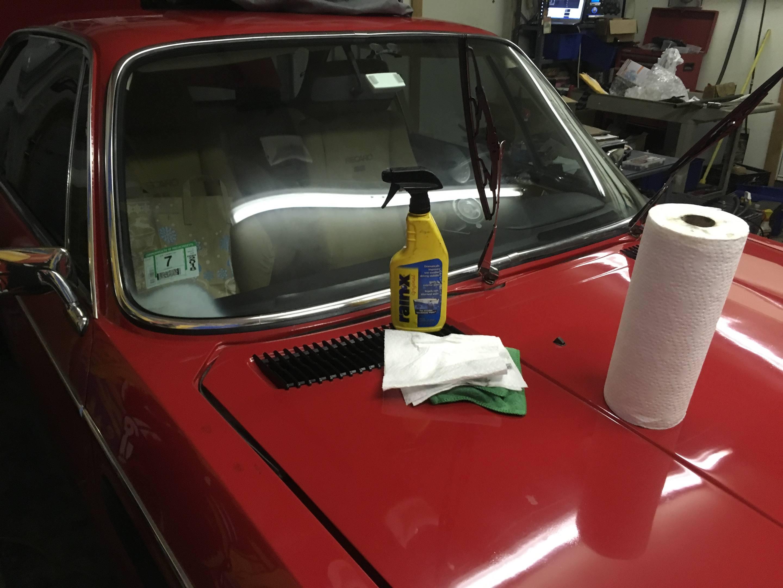 Rain-X'd the windshield