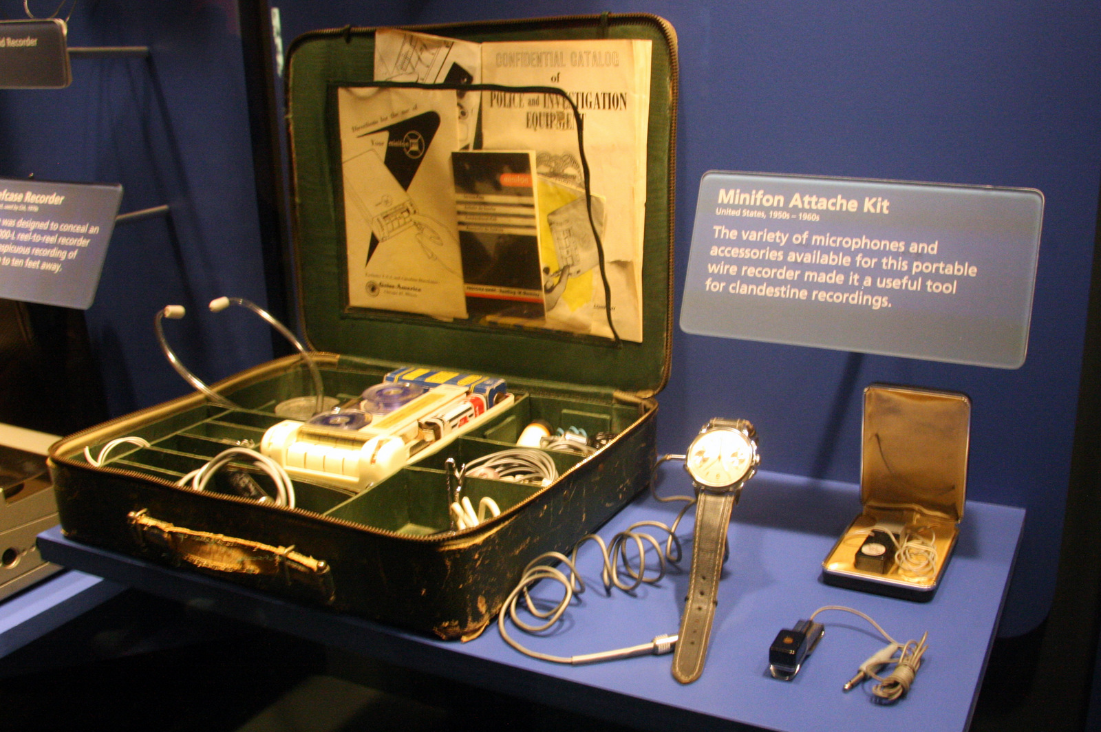 The International Spy Museum is packed with vintage spy equipment from the Cold War, World War II, the American Revolution, and even further back in time.