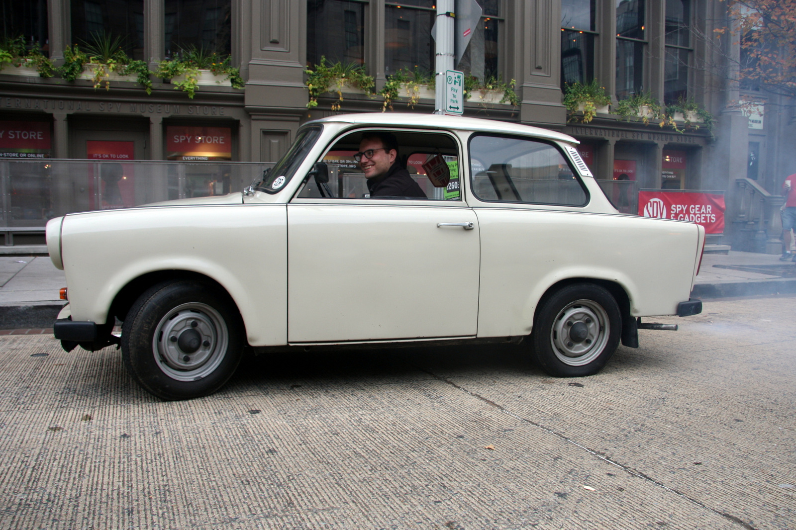 A Trabant two-stroke engine burns oil and gasoline mixed together. The cars are known for the thick blue smoke they emit when running.