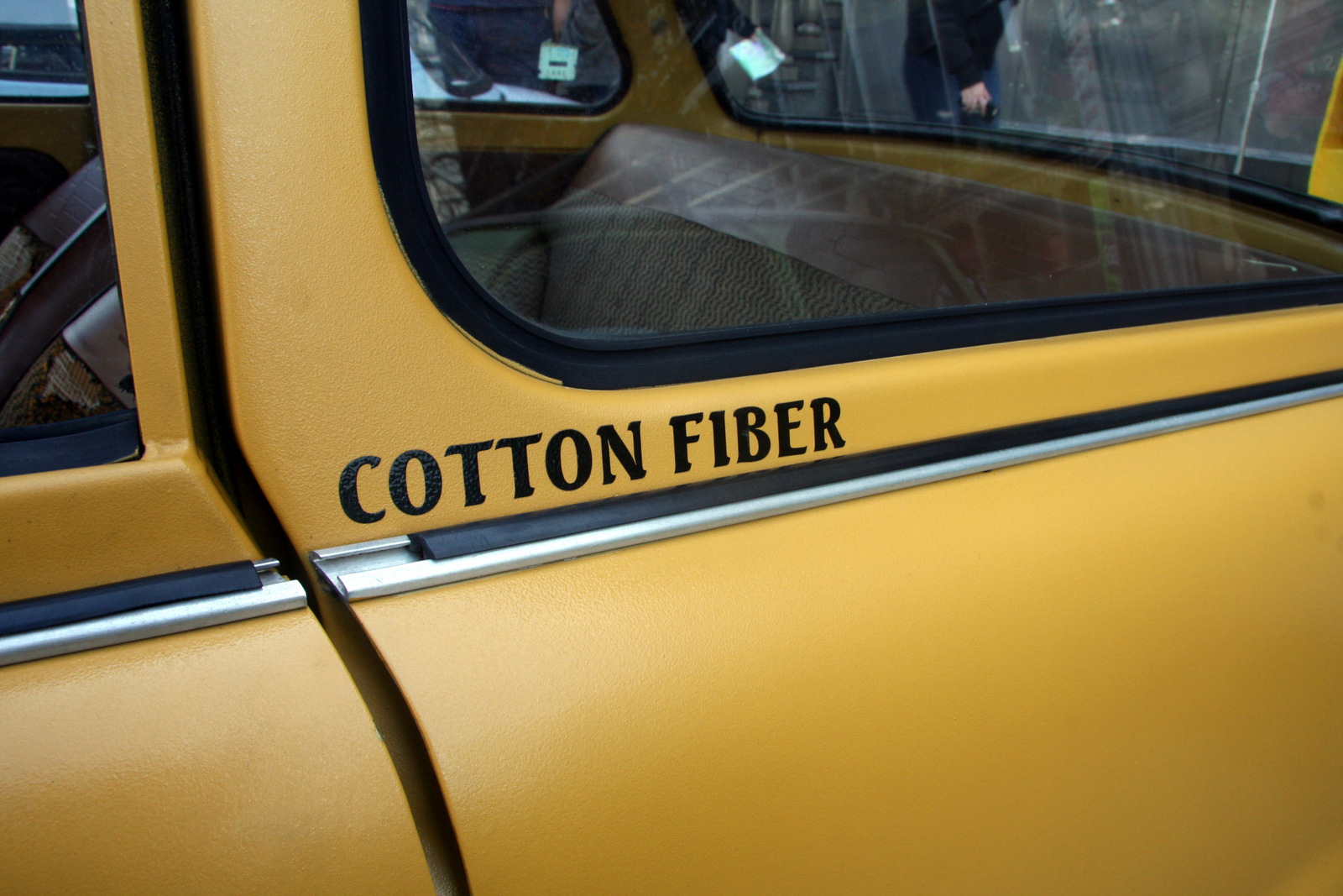 A Trabant body is made of a cotton-fiber plastic called Duraplast. The cars had to be lightweight because they didn't make much power.