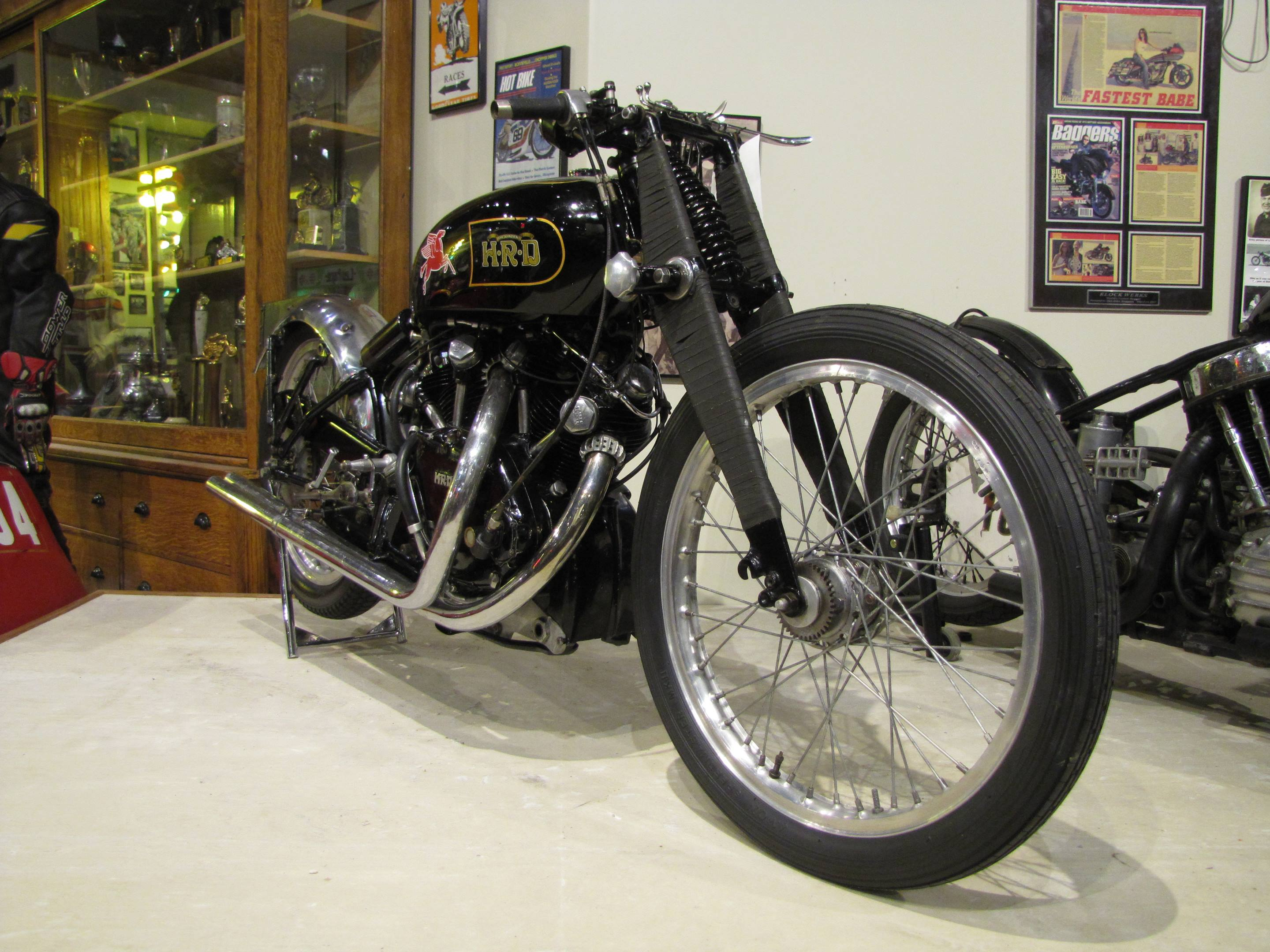 Vincent Black Lightning prototype in the Museum