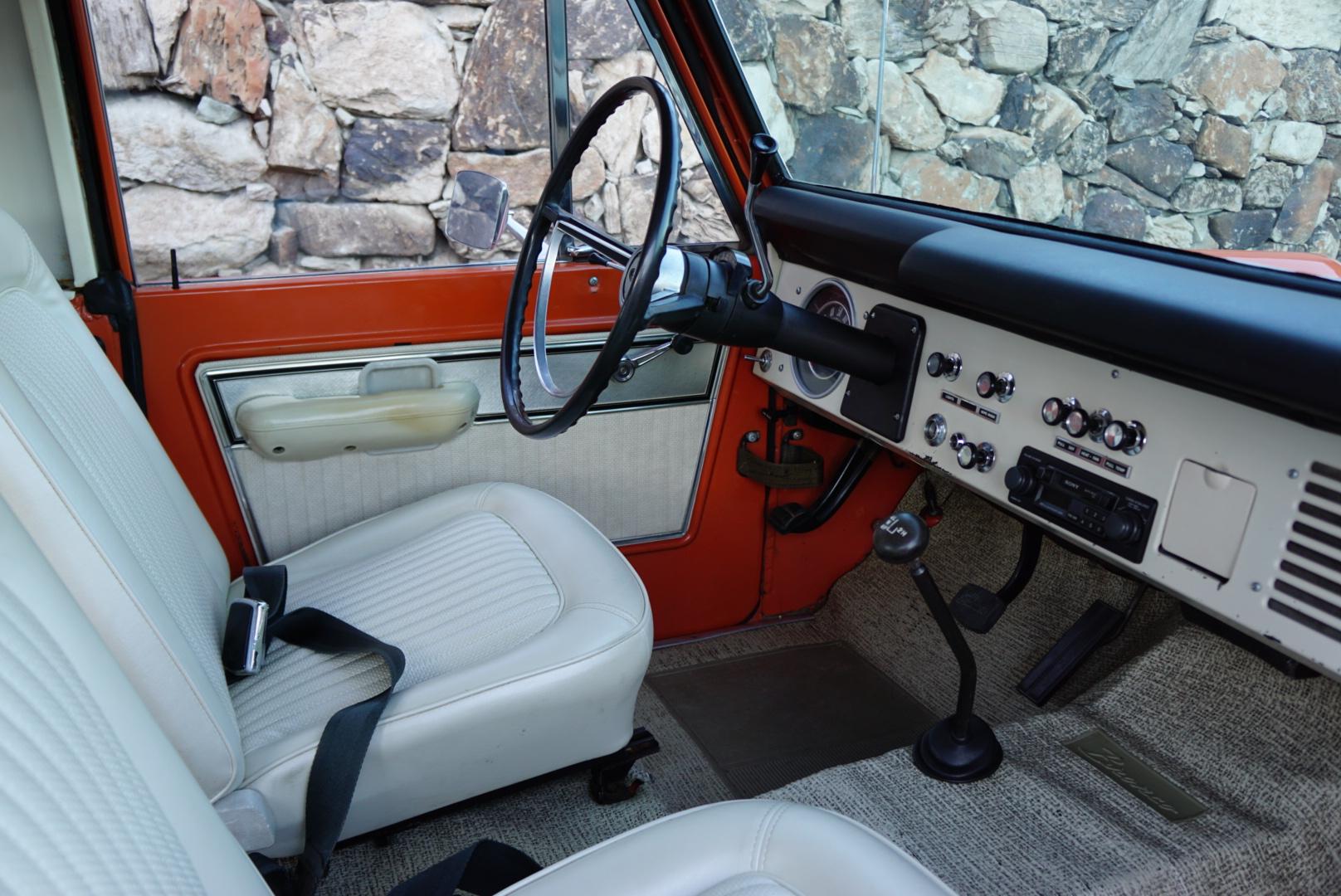1974 Ford Bronco interior