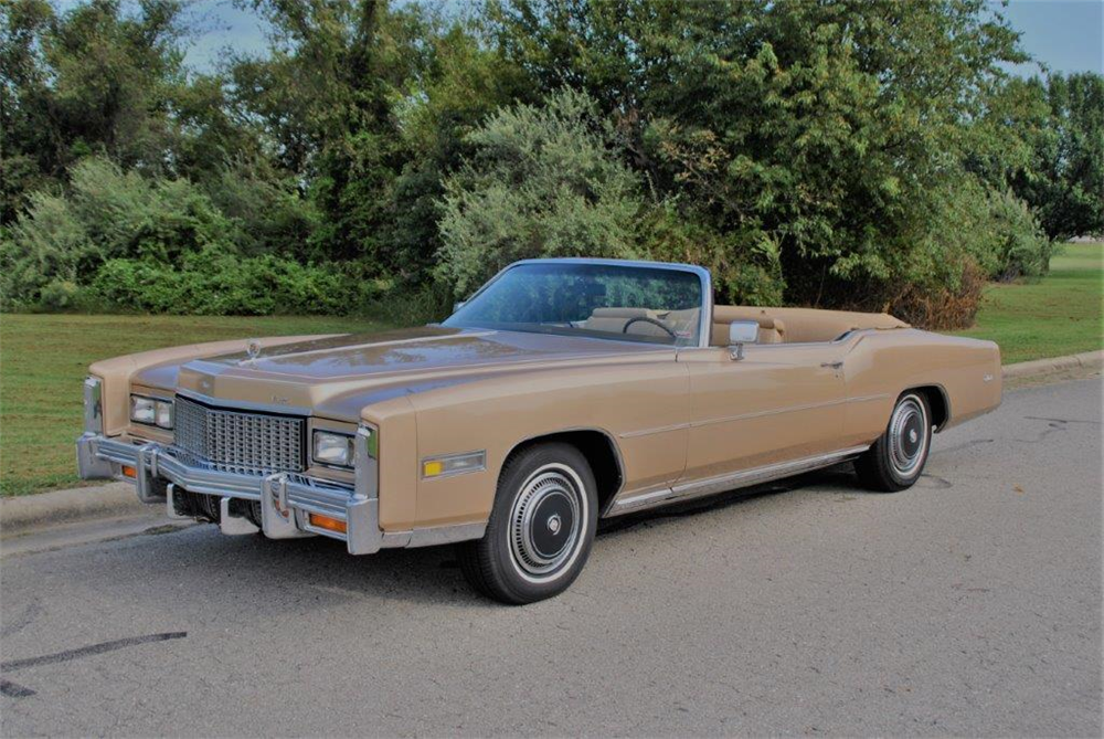 1976 cadillac eldorado convertible barrett jackson auction
