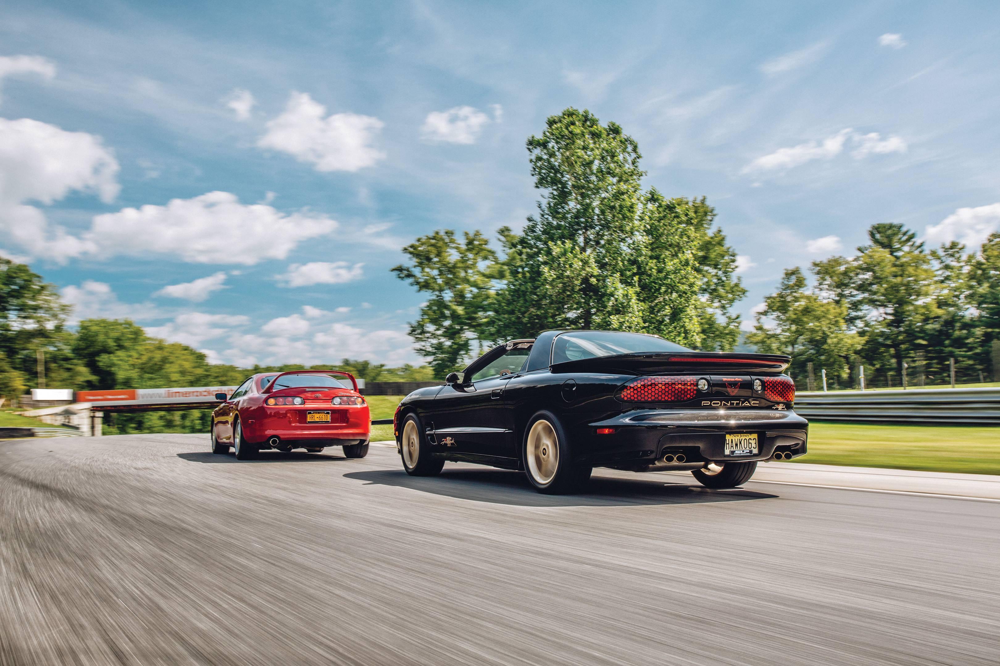 Toyota Supra Turbo and Pontiac Firebird Firehawk