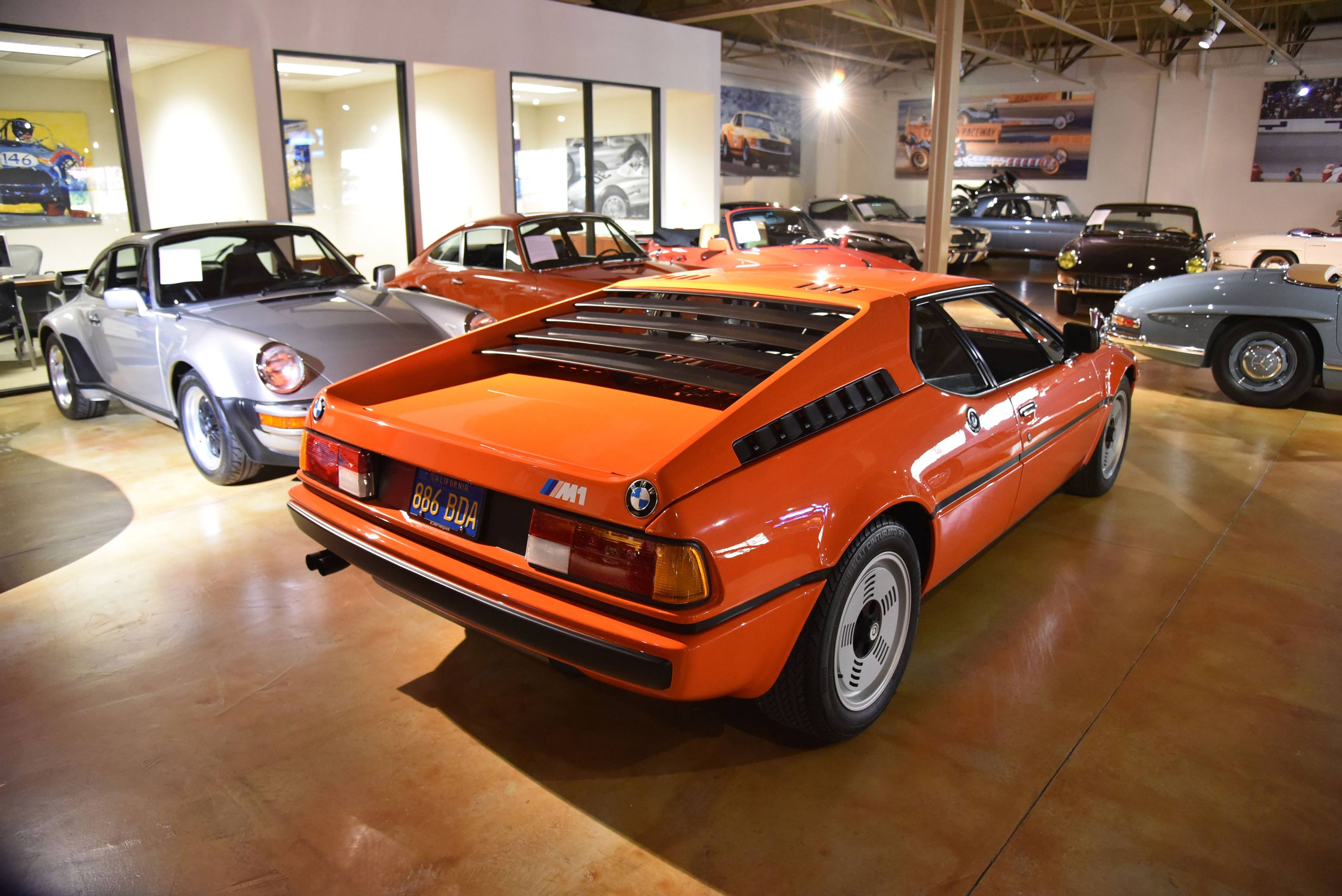BMW M1 Canepa showroom