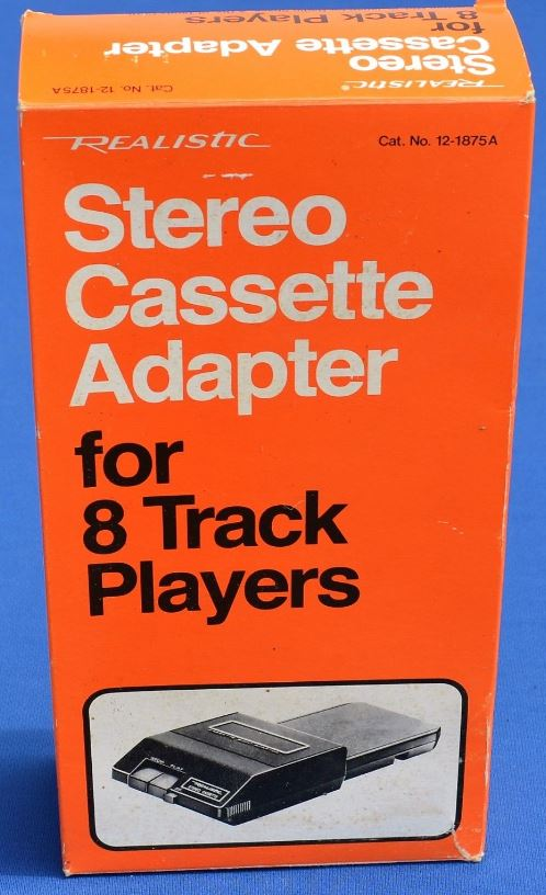 One of a number of 8-Track-to-cassette adapters that were available back in the day.