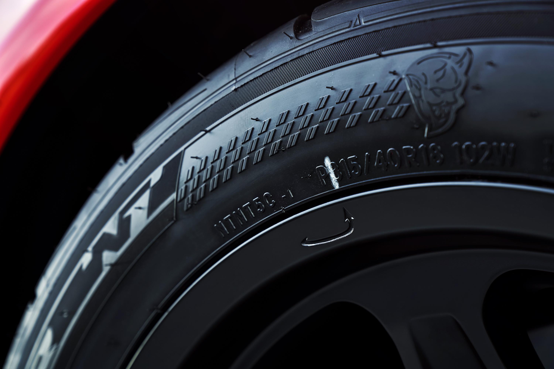 2018 Dodge Challenger SRT Demon tire detail