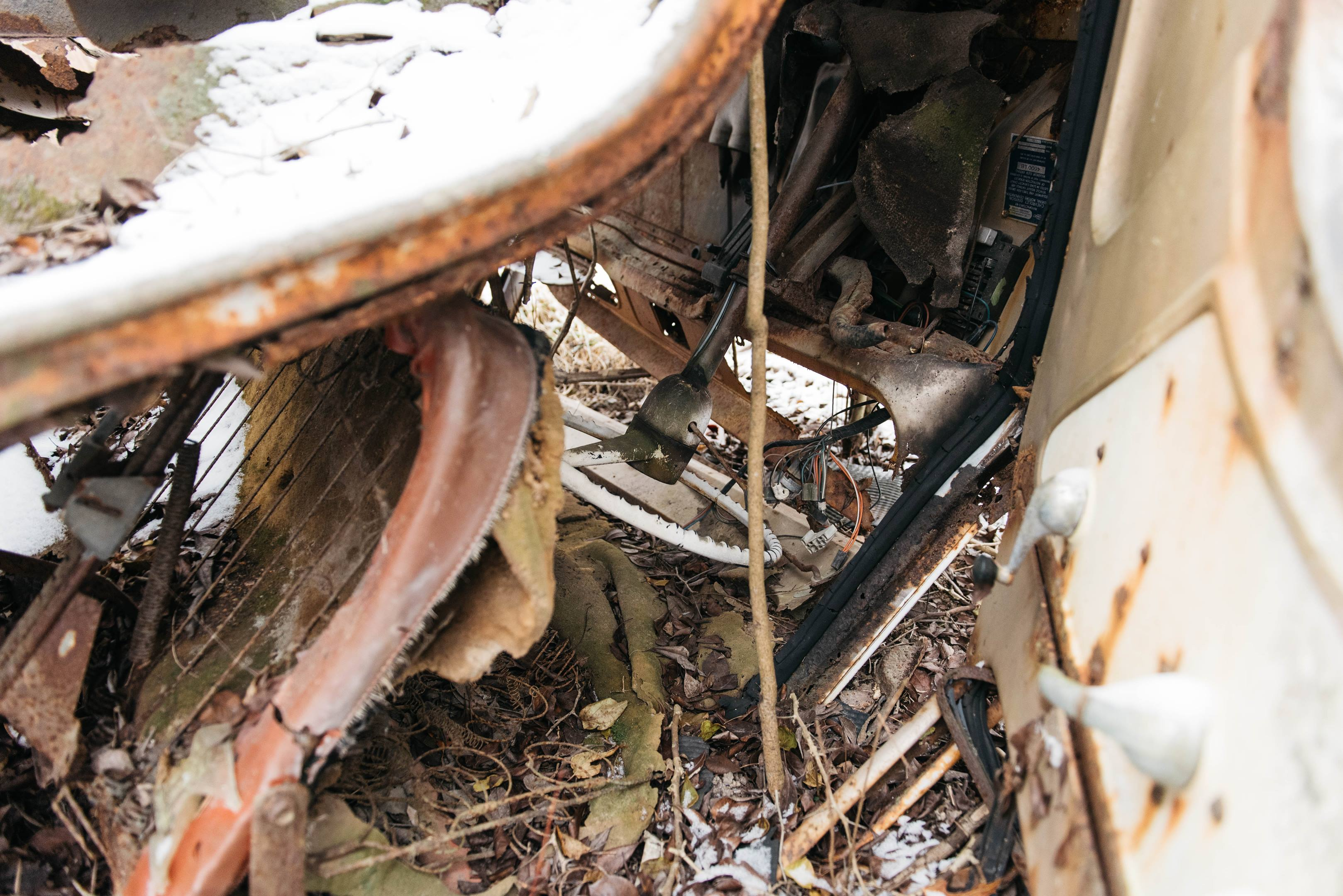 Motor City Dragway wrecked car