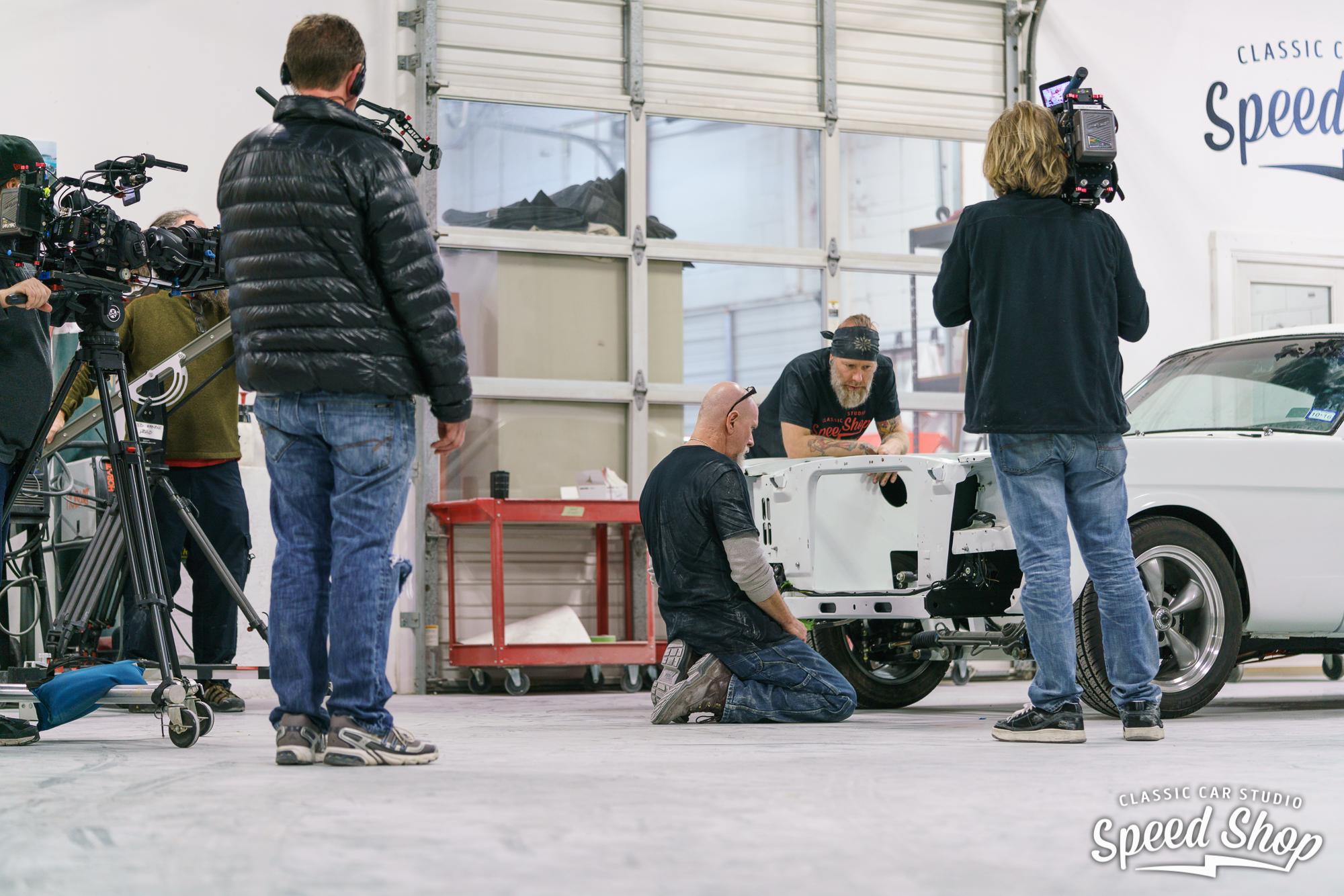 behind the scenes of shooting Classic Car Studio