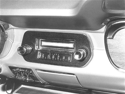 The first factory in-dash 8-Track player, installed in a 1966 Ford Mustang.