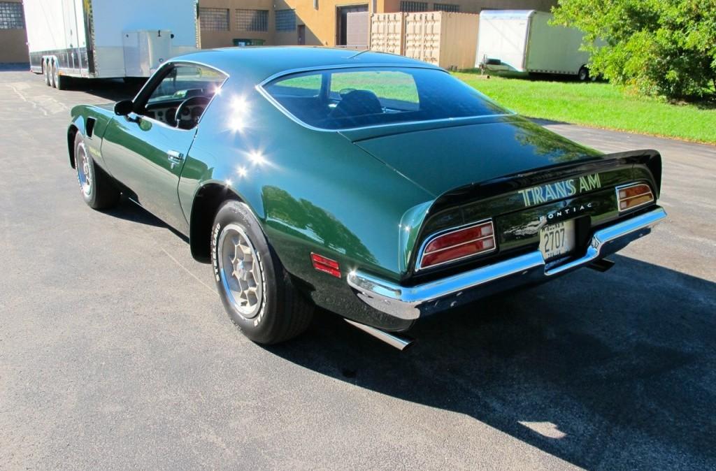 1973 pontiac trans am super duty sd 455 green rear side