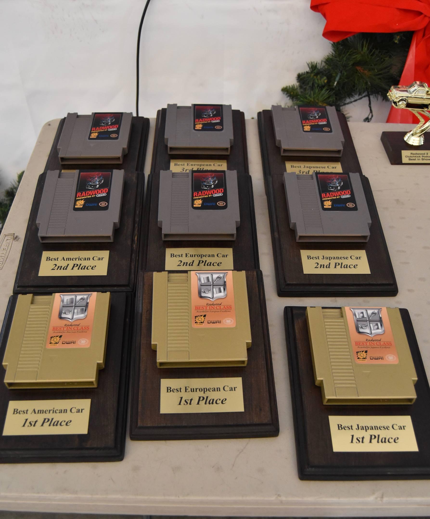 Radwood nintendo cartridge trophies