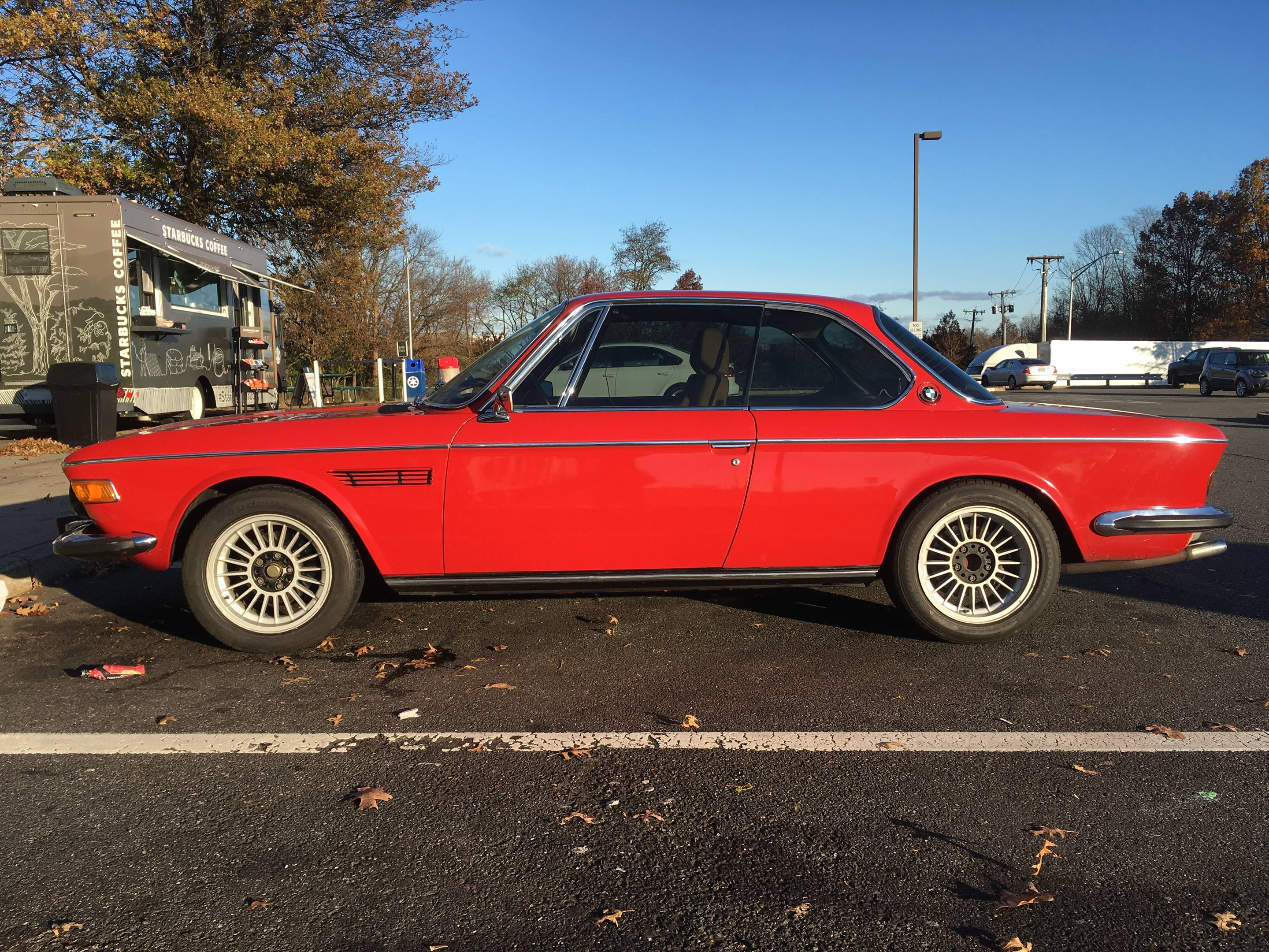 Red BMW E9 coupe