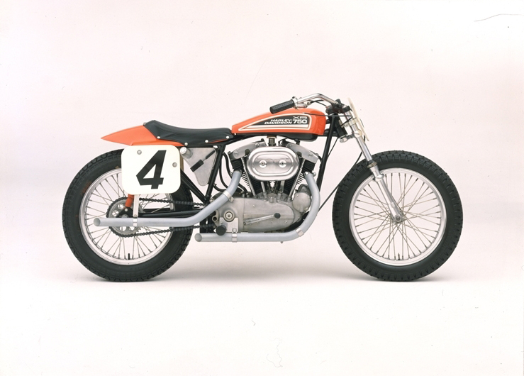The XR750, introduced in 1970, was popular in AMA racing and made famous by Evel Knievel