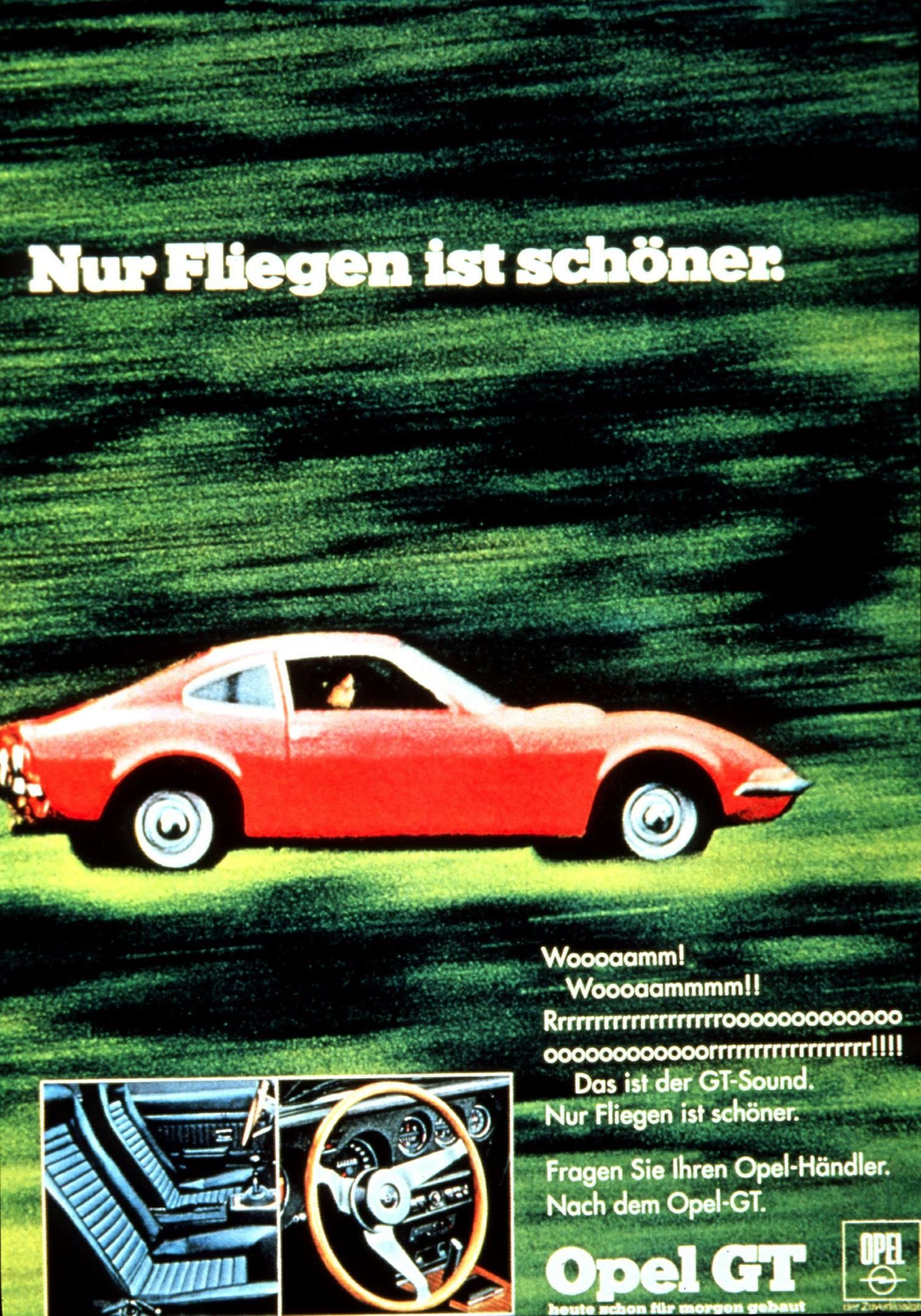 1968 Opel GT advertisement