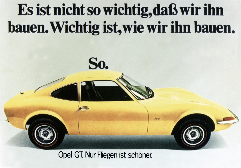 1970 Opel GT advertisement