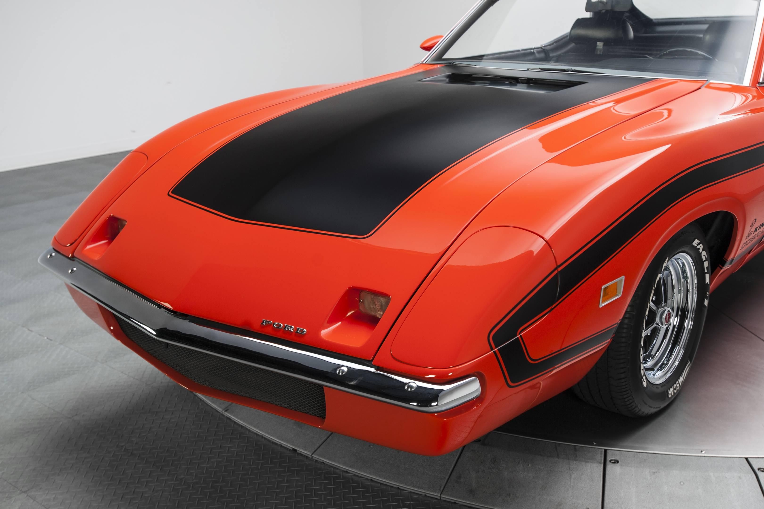 Ford Torino King Cobra hood detail