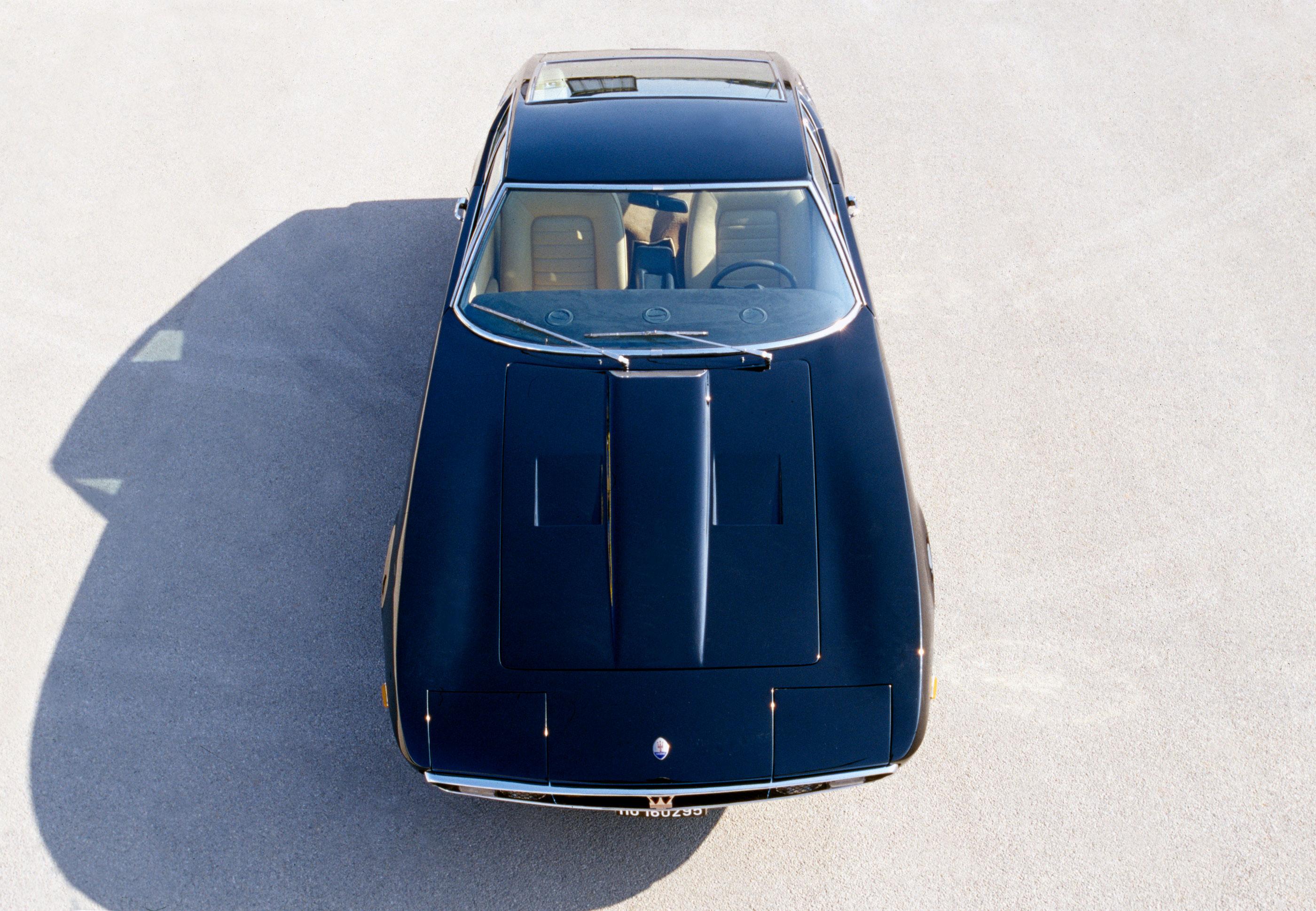Maserati Ghibli overhead view
