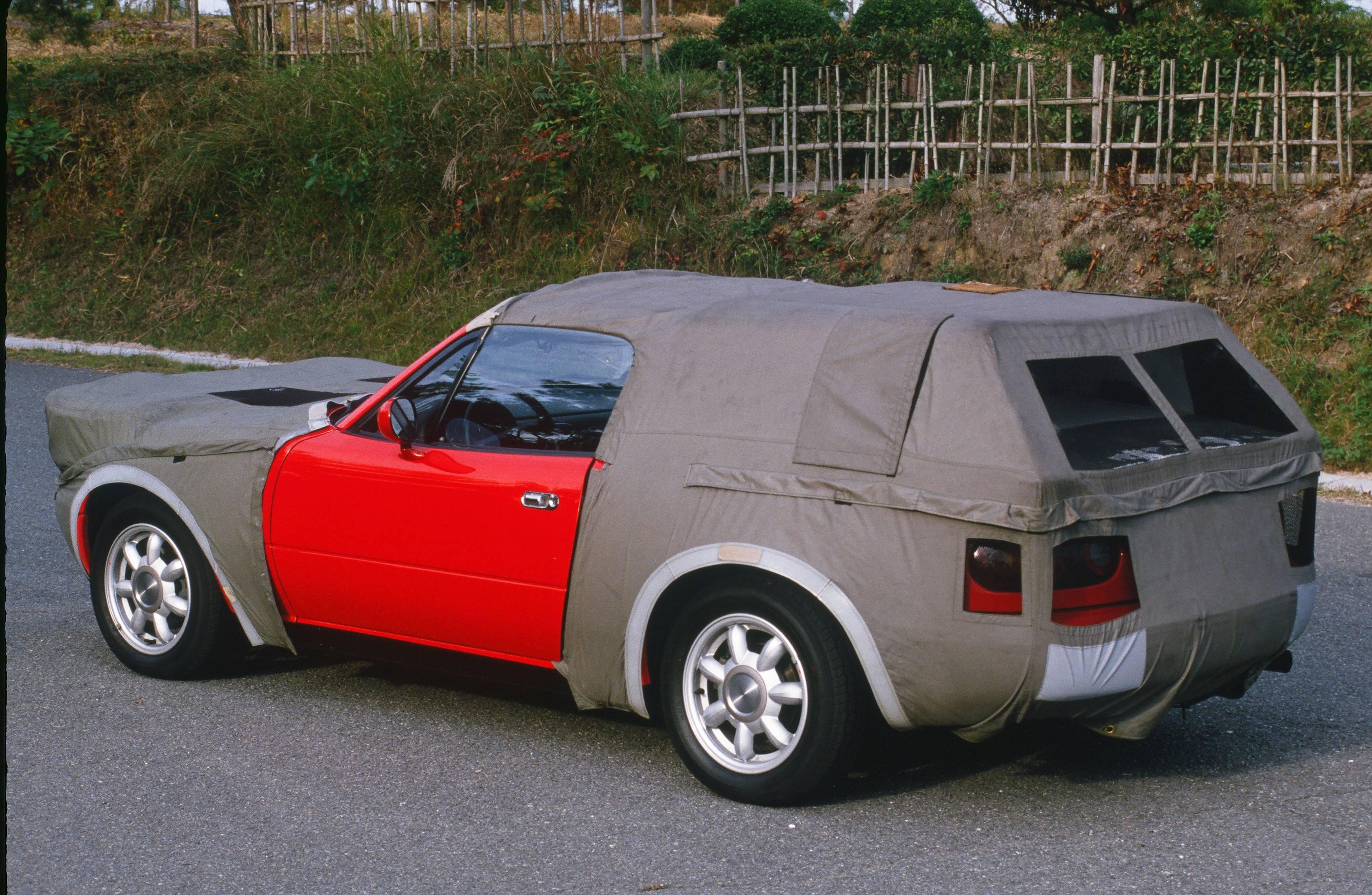 1990 mazda mx5 miata red test mule camoflage