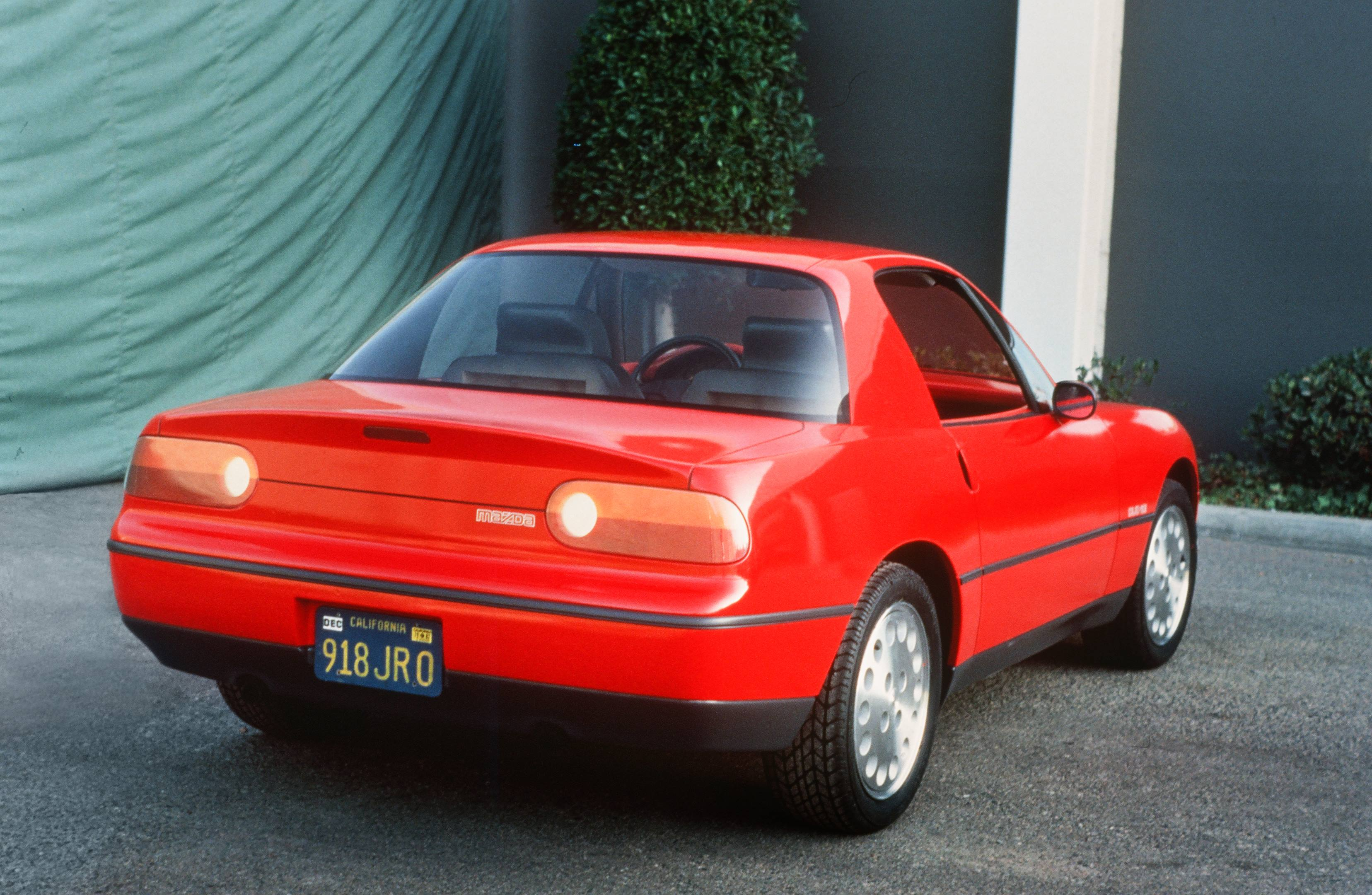 mazda miata design test prototype coupe