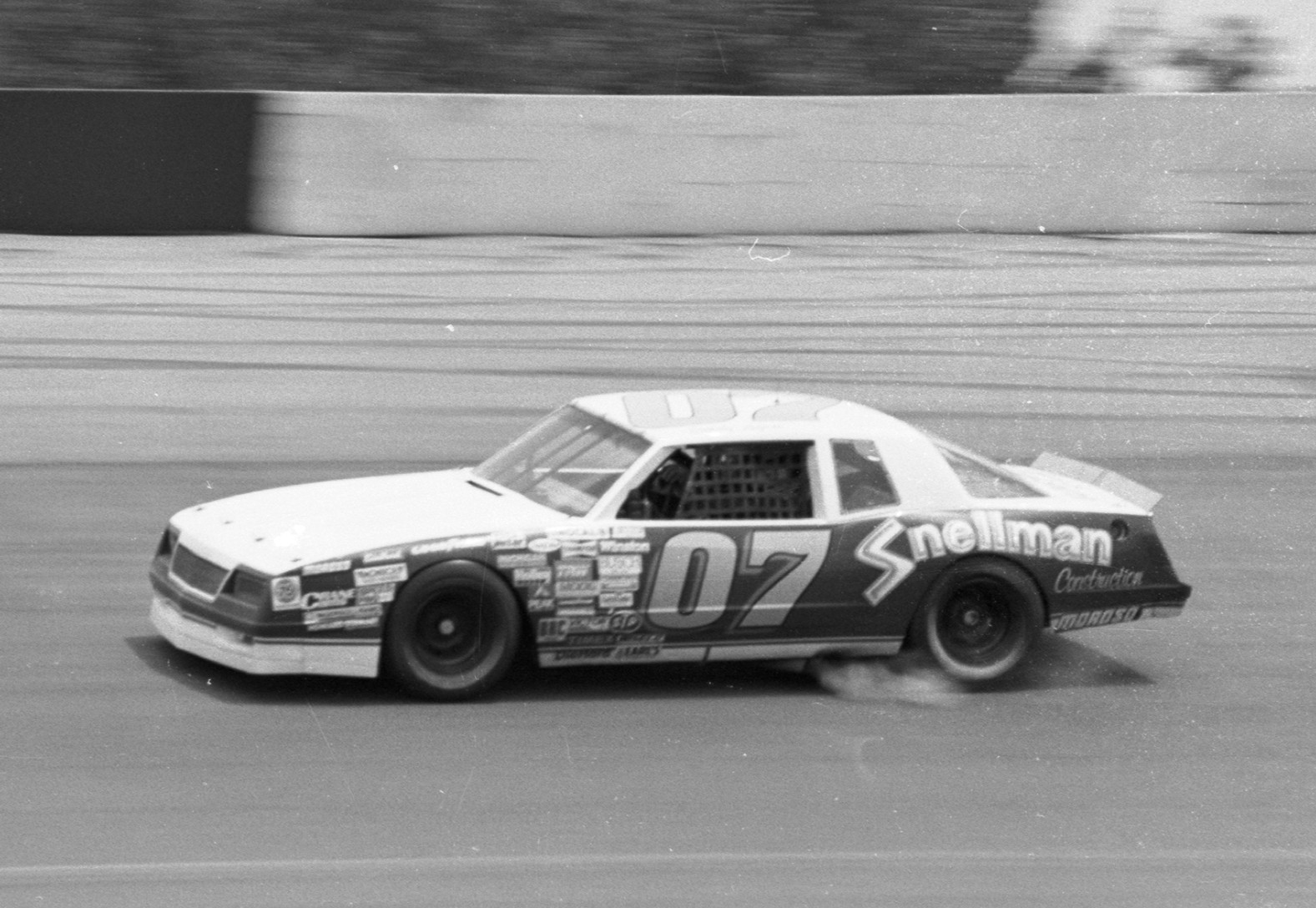Randy LaJoie drives the No. 07 Snellman Racing Chevrolet during the 1986 NASCAR Winston Cup Series Miller High Life 500 at Pocono Raceway, June 8 1986.