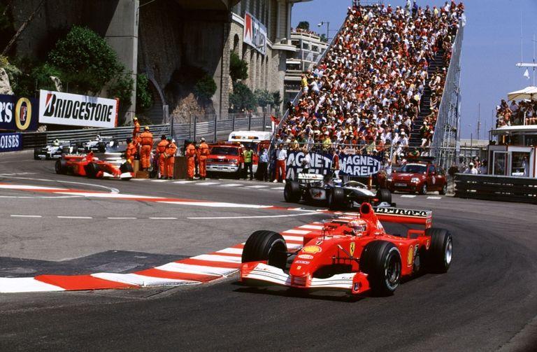 Schumacher Ferrari in 2001 Monaco Grand Prix