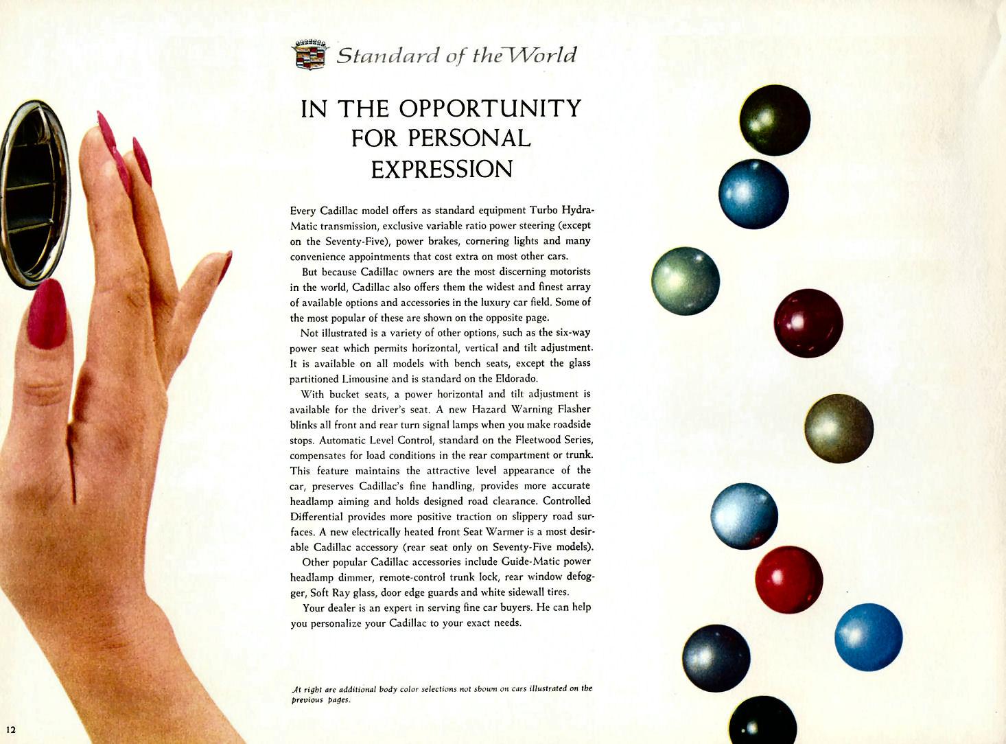 1966 Cadillac Options Advertisement