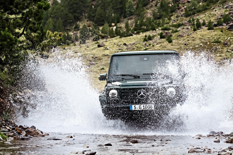 2019 Mercedes-Benz G-Class splashing through a river