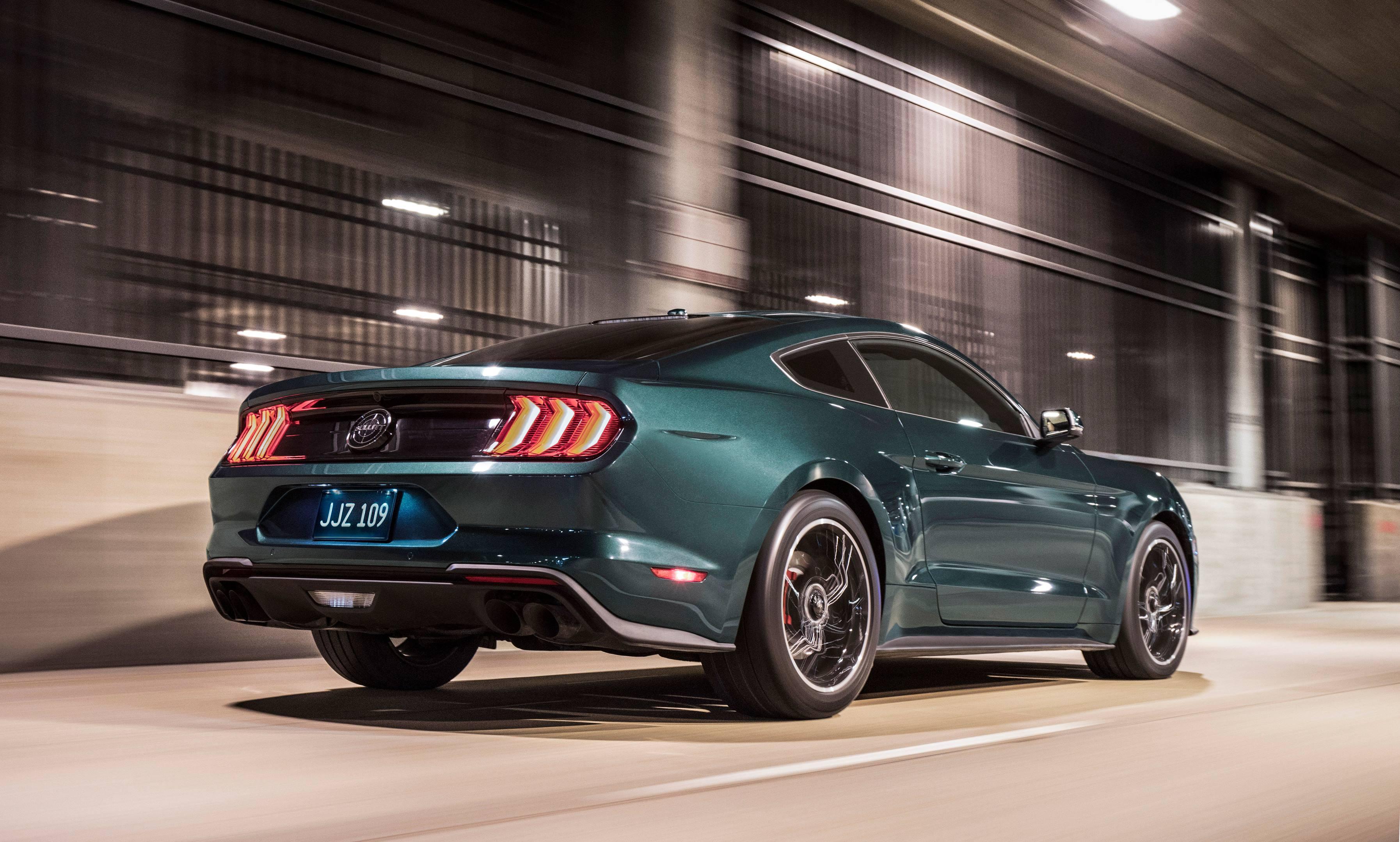 2019 Mustang Bullitt rear 3/4