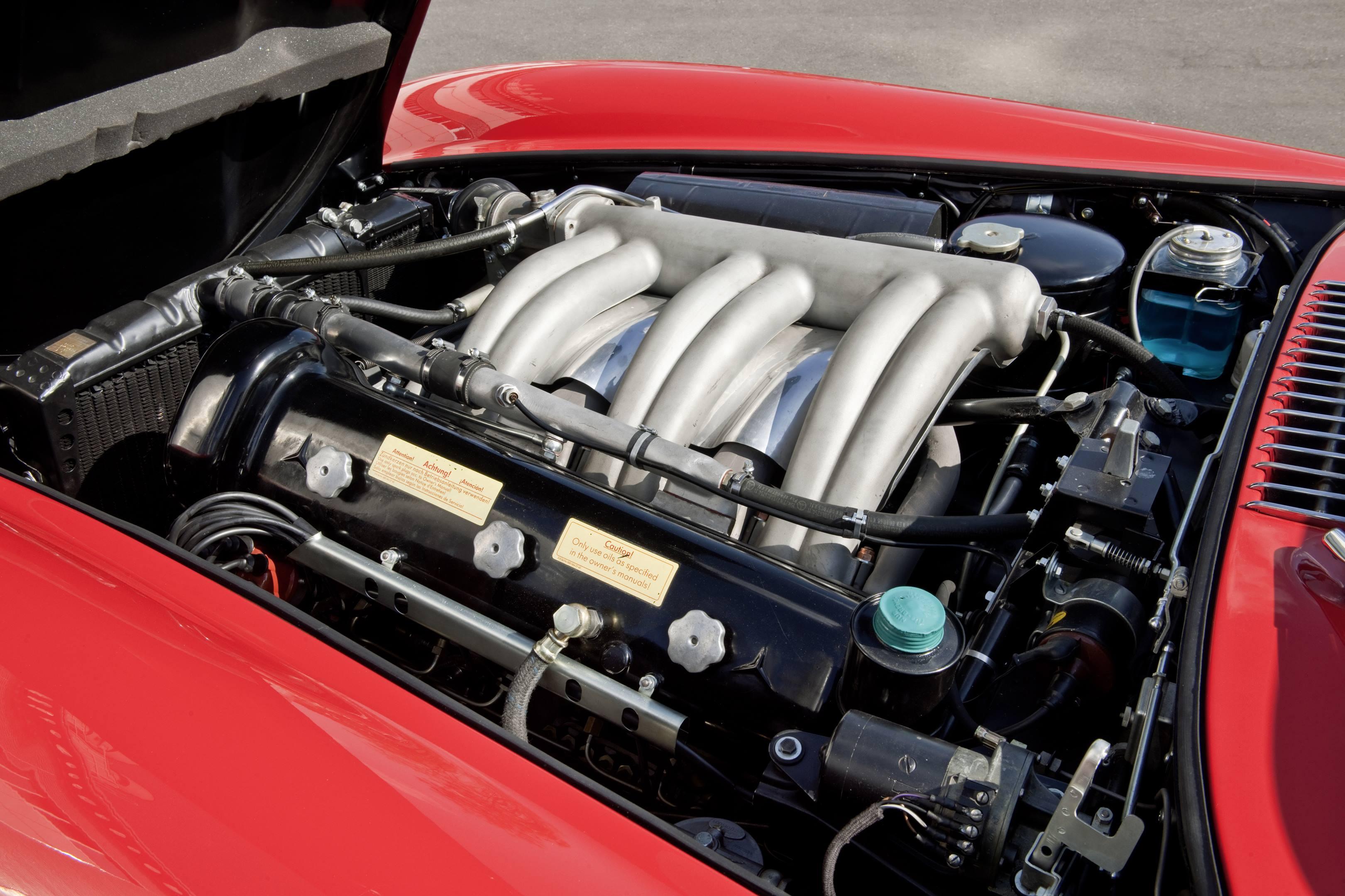 bmw 300sl gullwing engine red