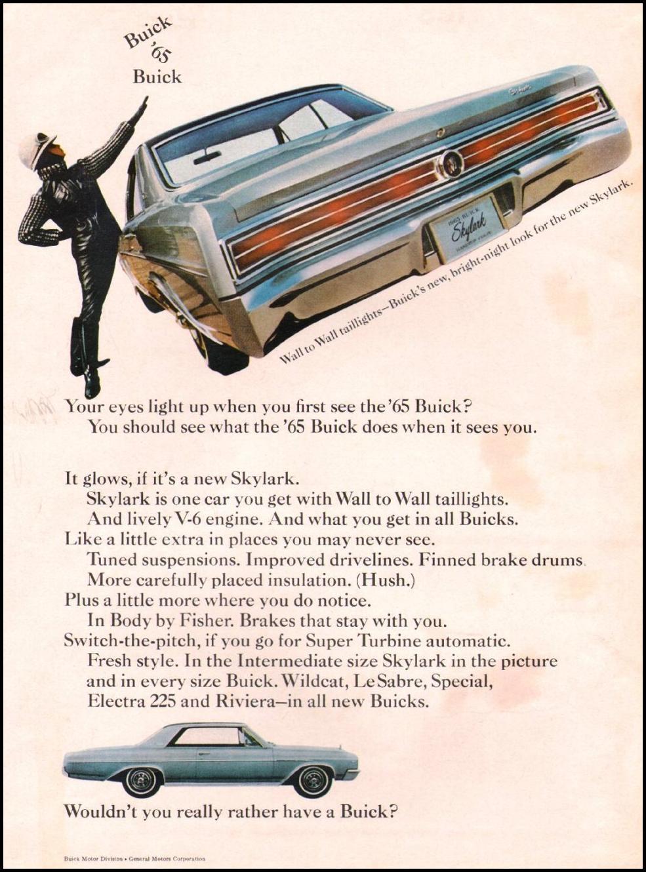 1965 Buick Skylark GS advertisement.