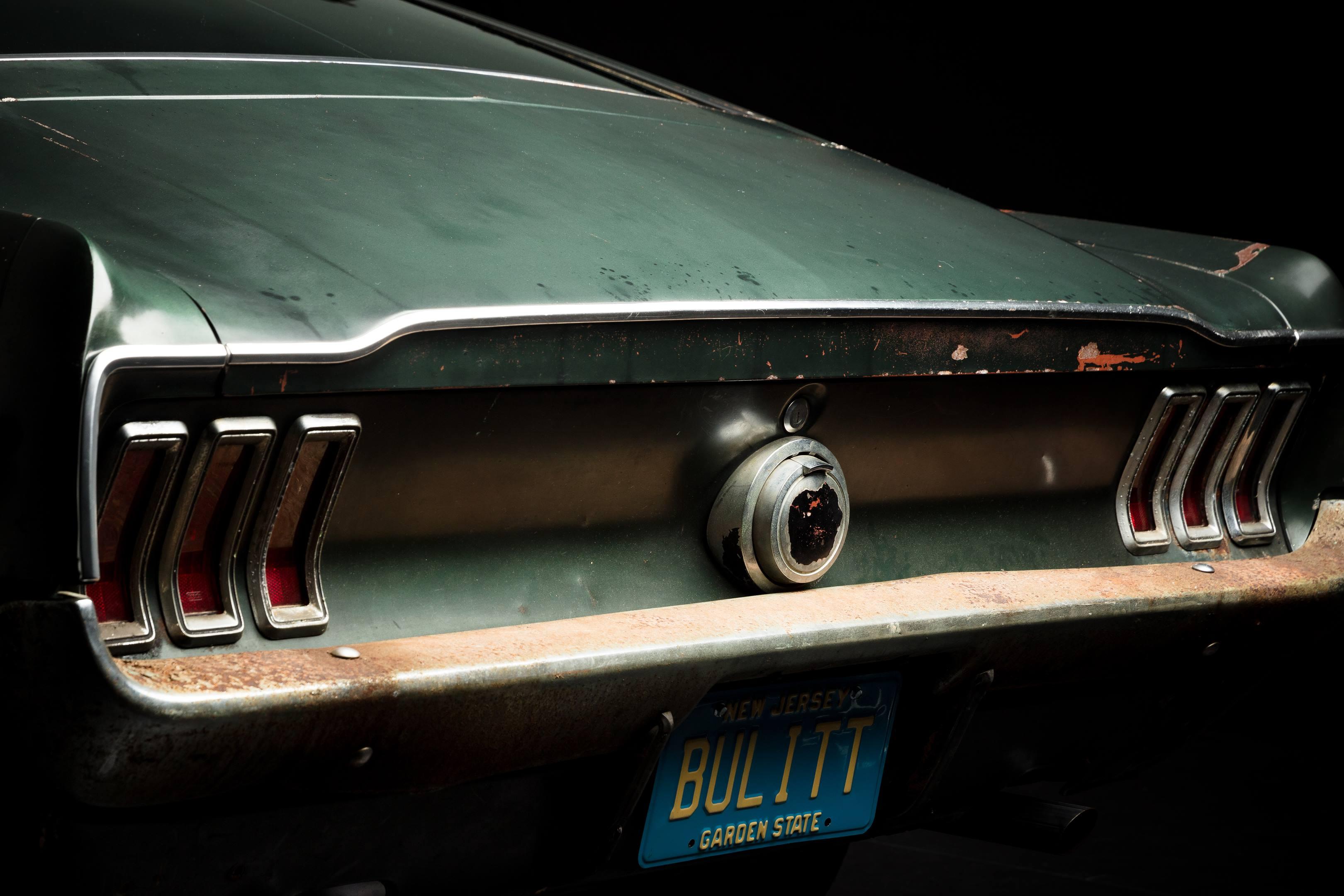 Bullitt Mustang rear bumper detail