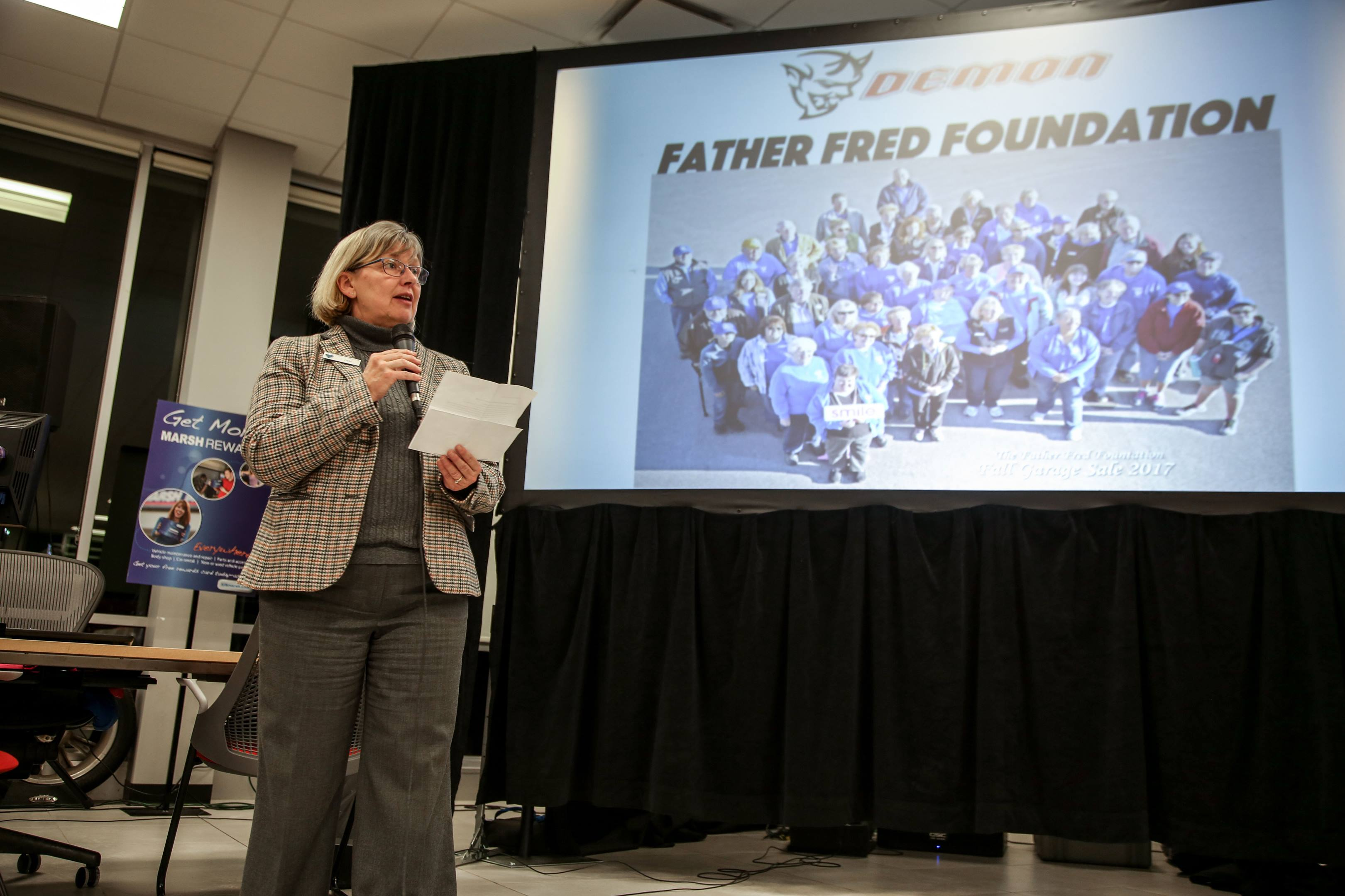 Deb Hasse, director of the Father Fred Foundation