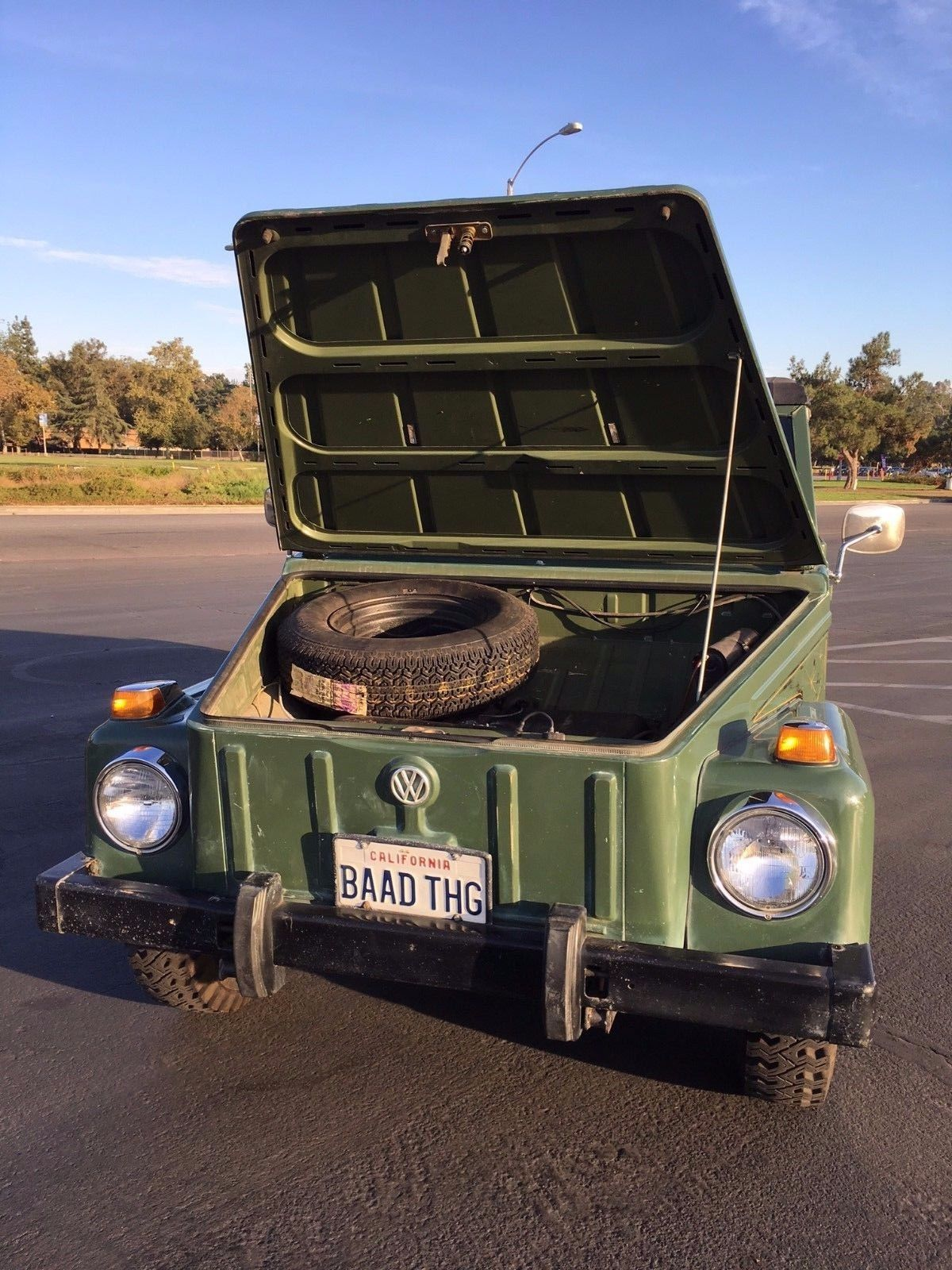 1974 Volkswagen Thing under the hood