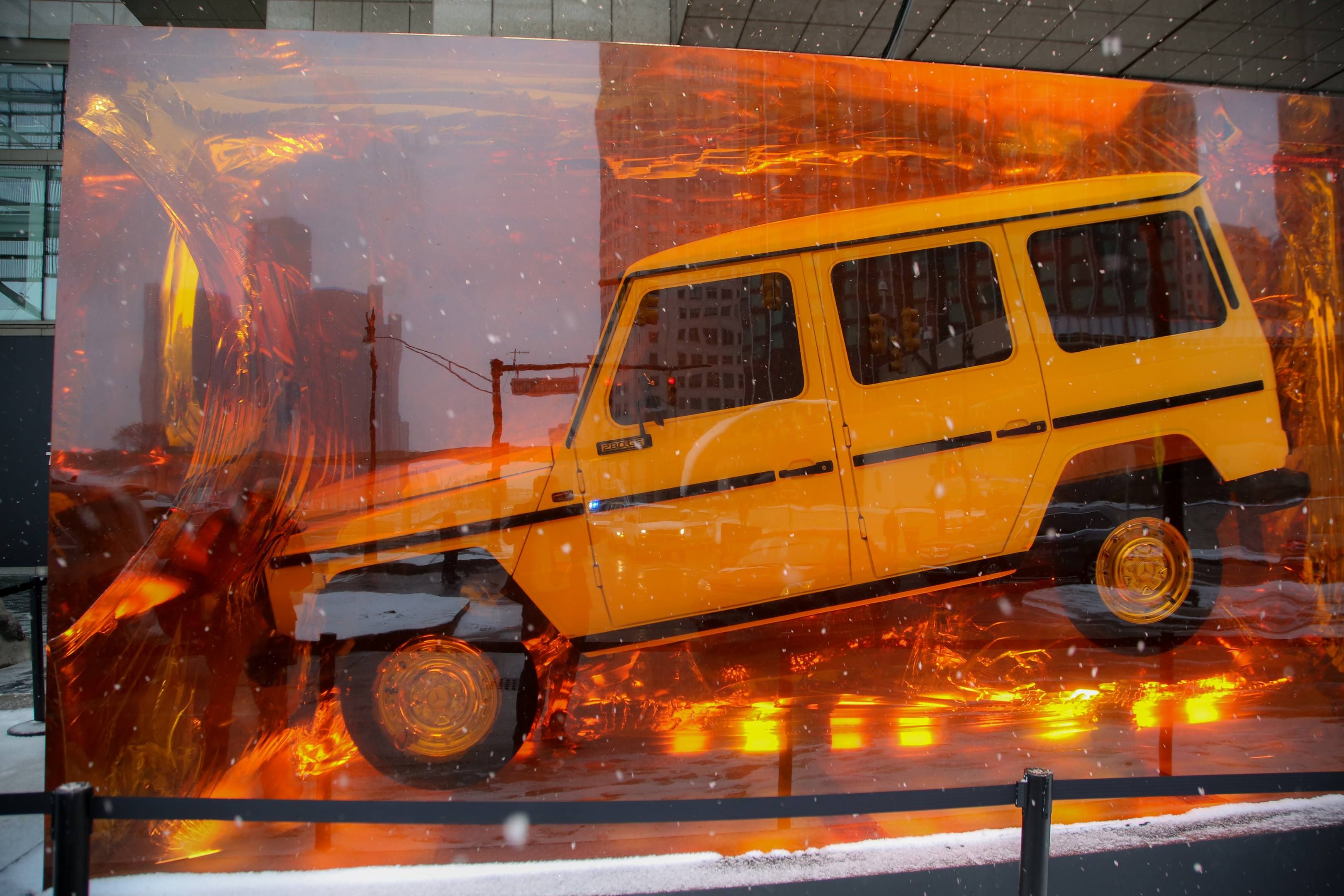 1979 Mercdes-Benz 280 GE cast in amber