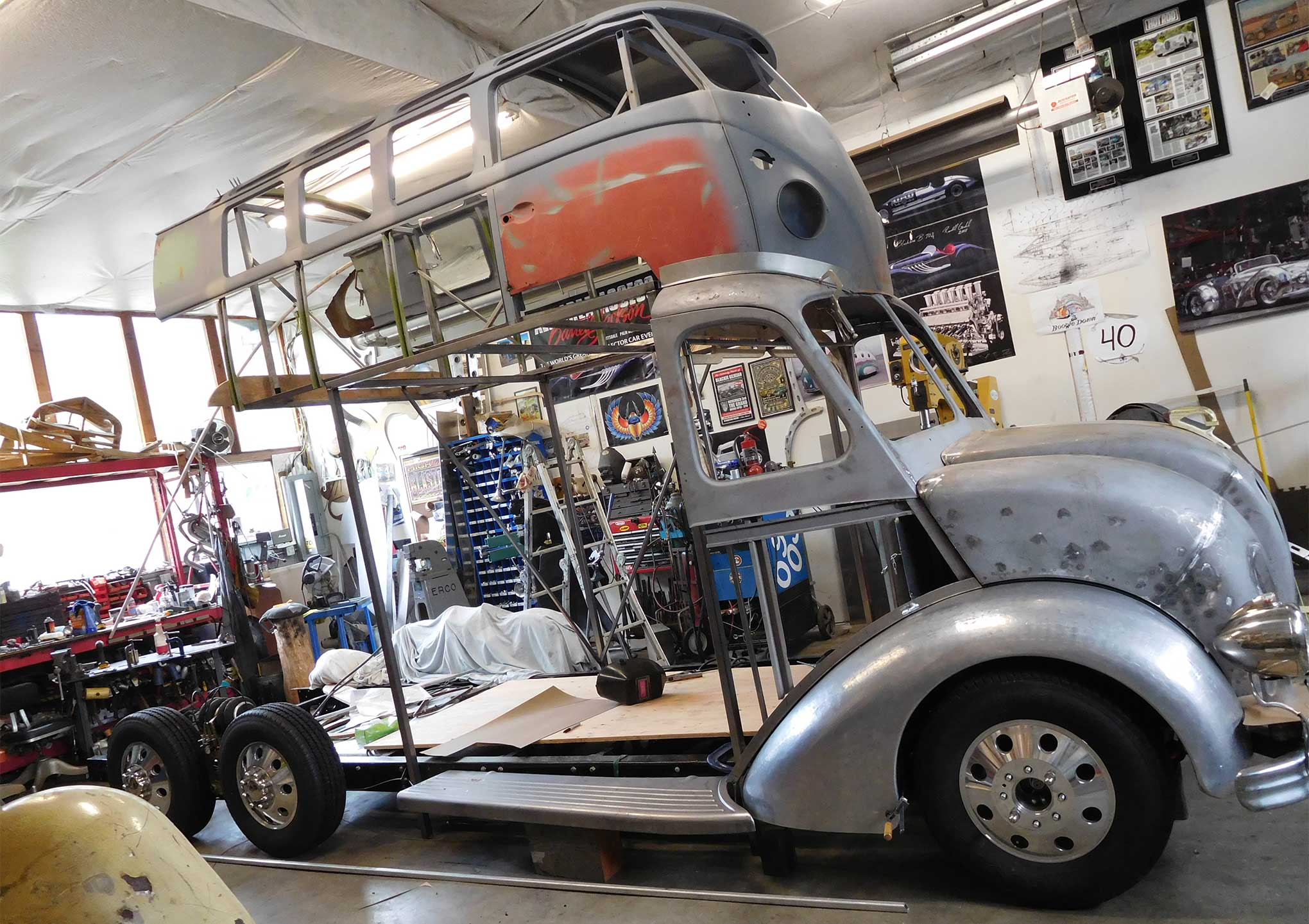 Randy Grubb's Magic Bus in progress