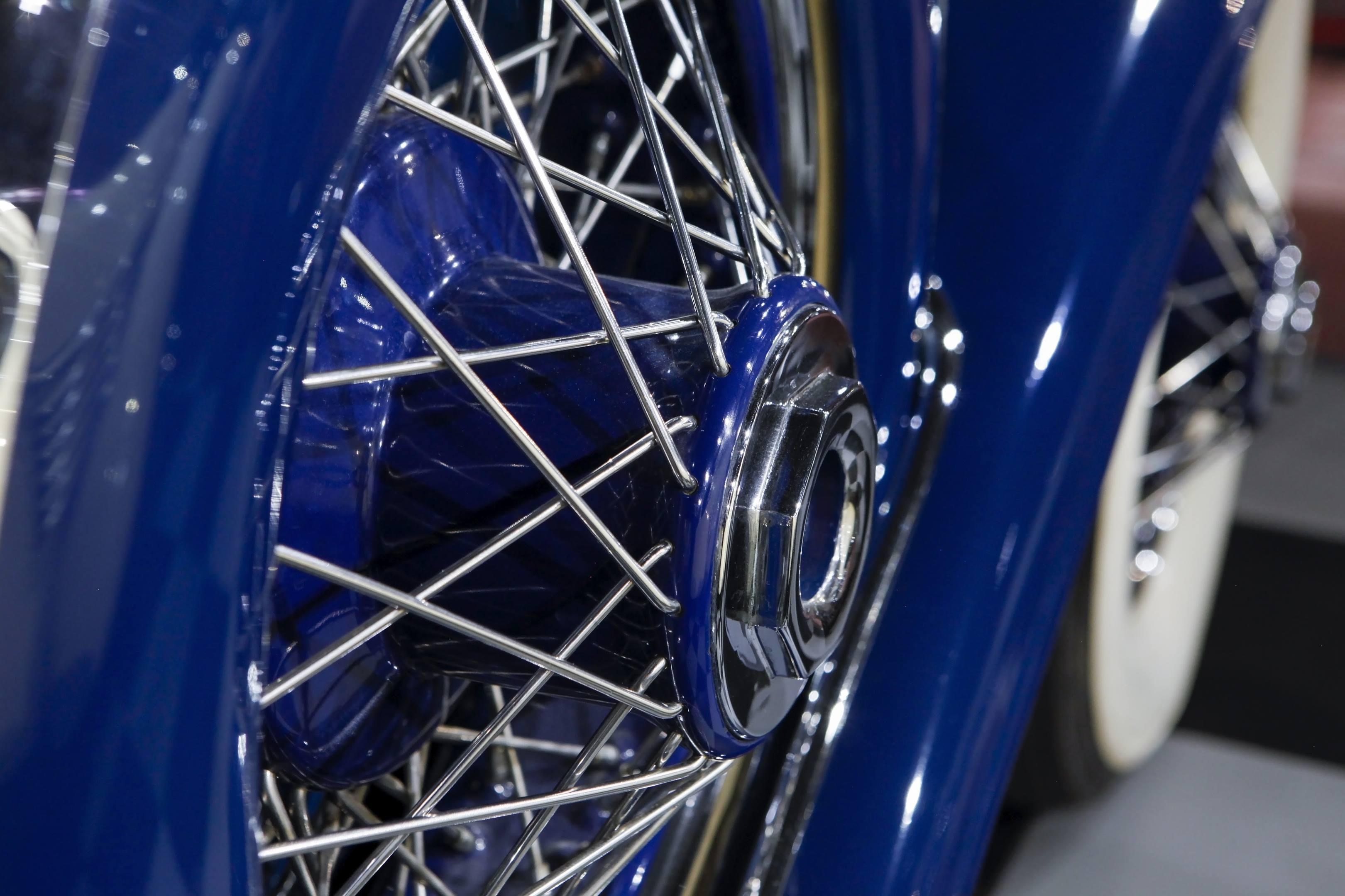 haynes museum duesenberg model j blue wheels