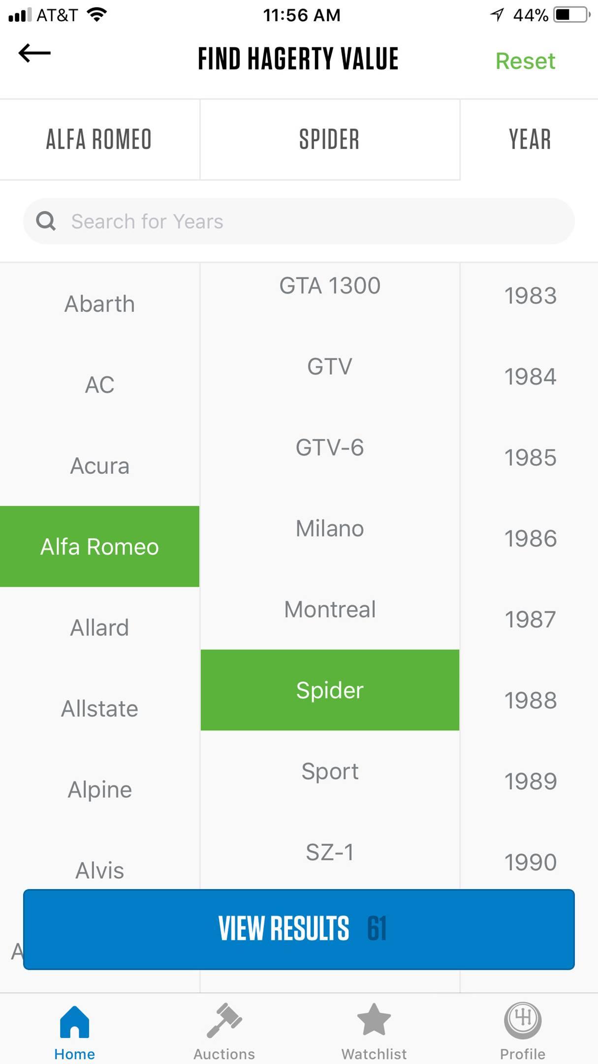 HVT Insider app home select car find value