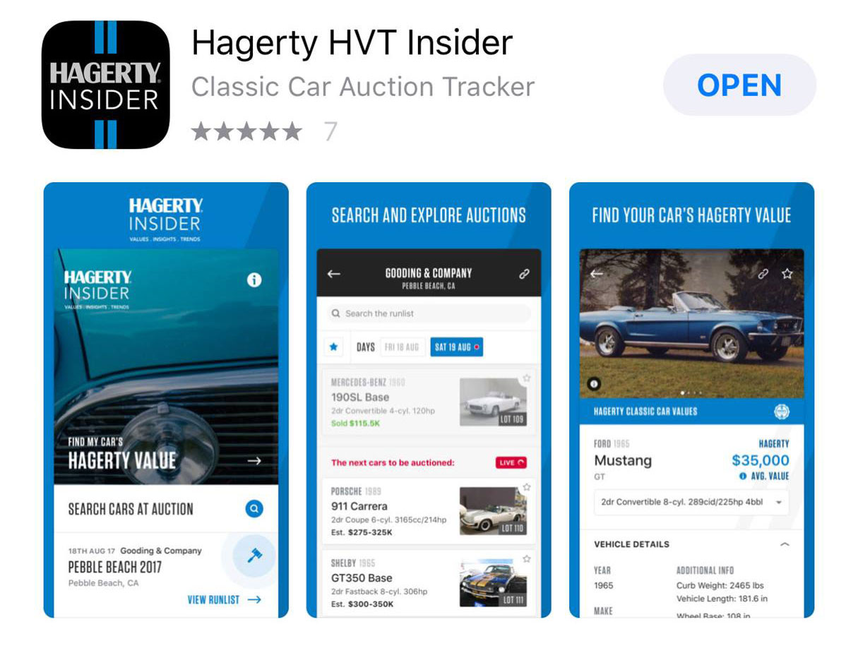 Hagerty Insider in the app store